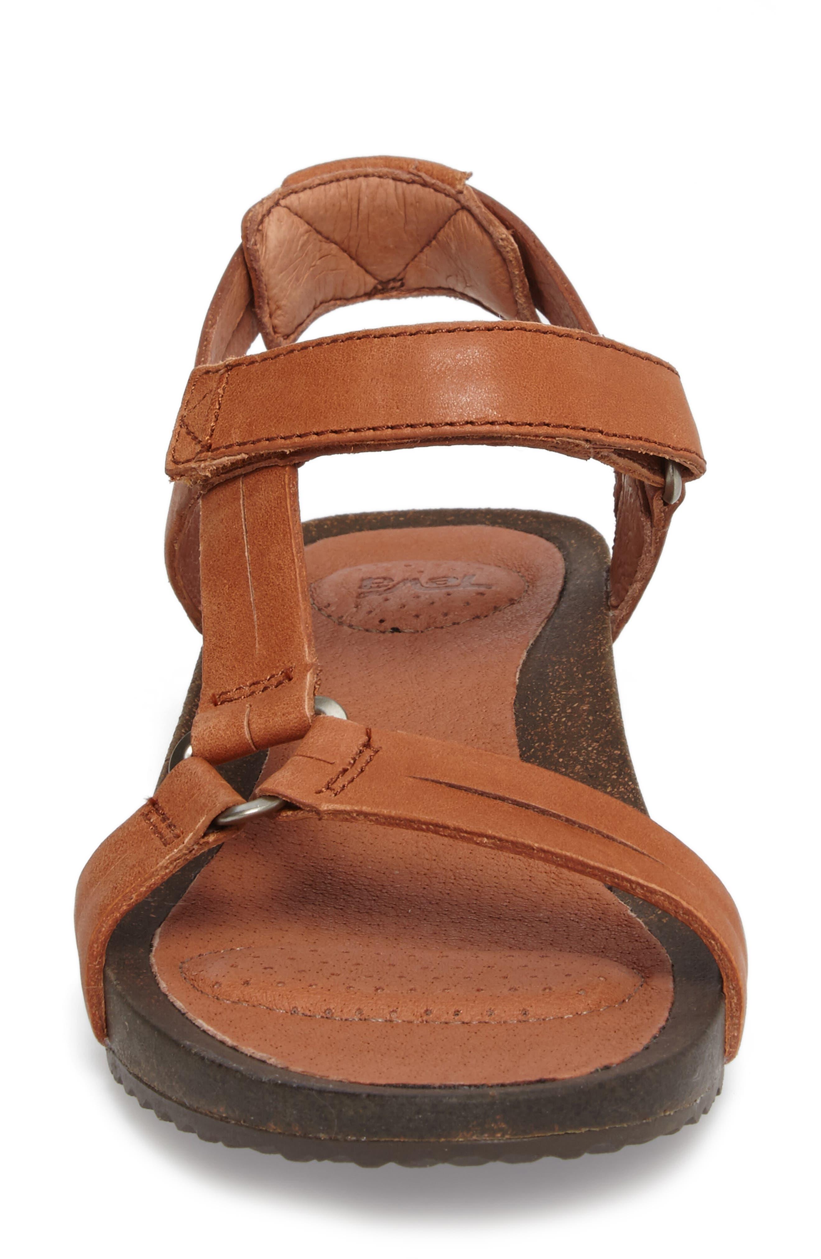 Ysidro Universal Sandal,                             Alternate thumbnail 5, color,                             Cognac Leather