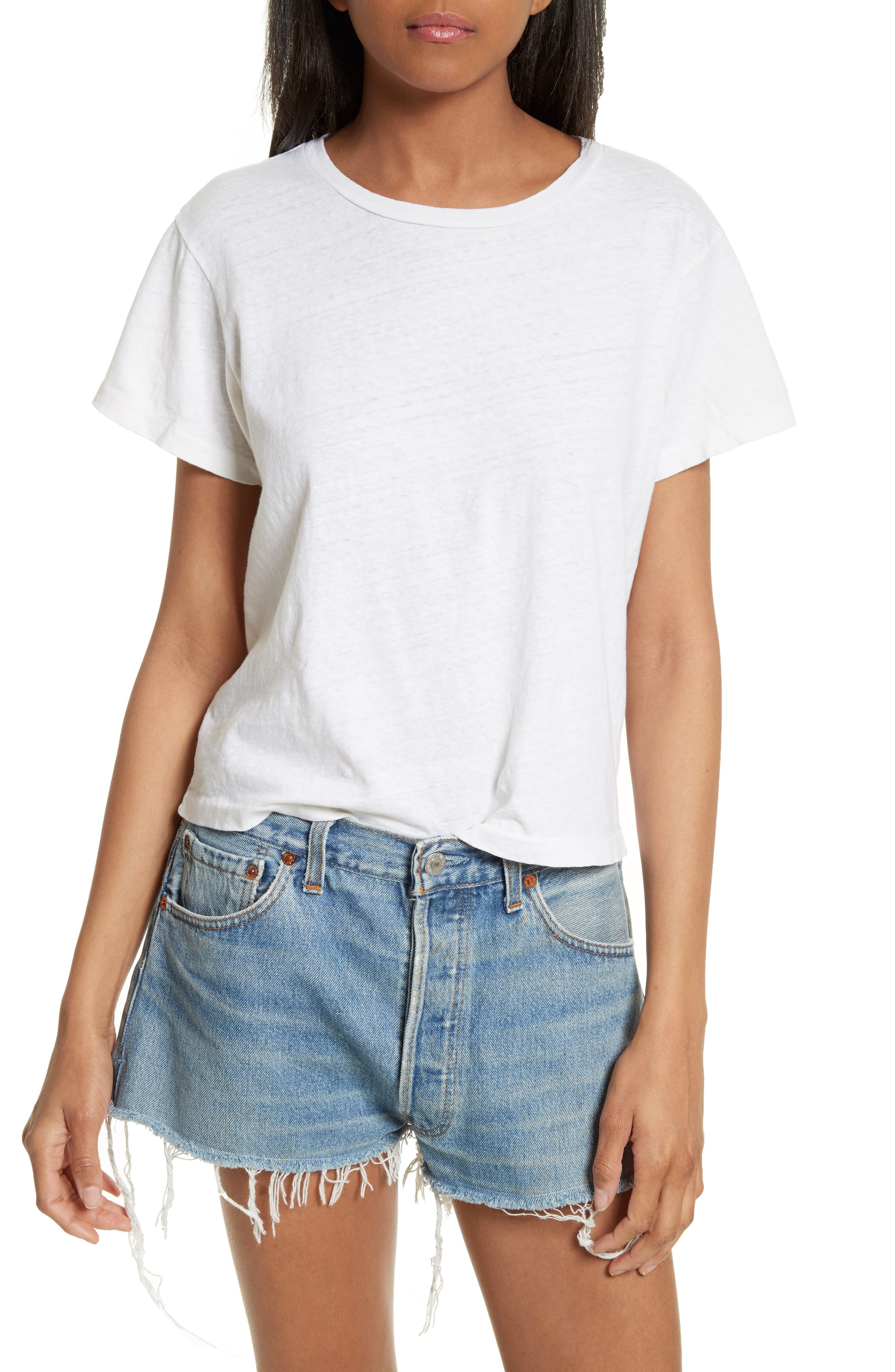 x Hanes The Classic Tee,                         Main,                         color, Vintage White