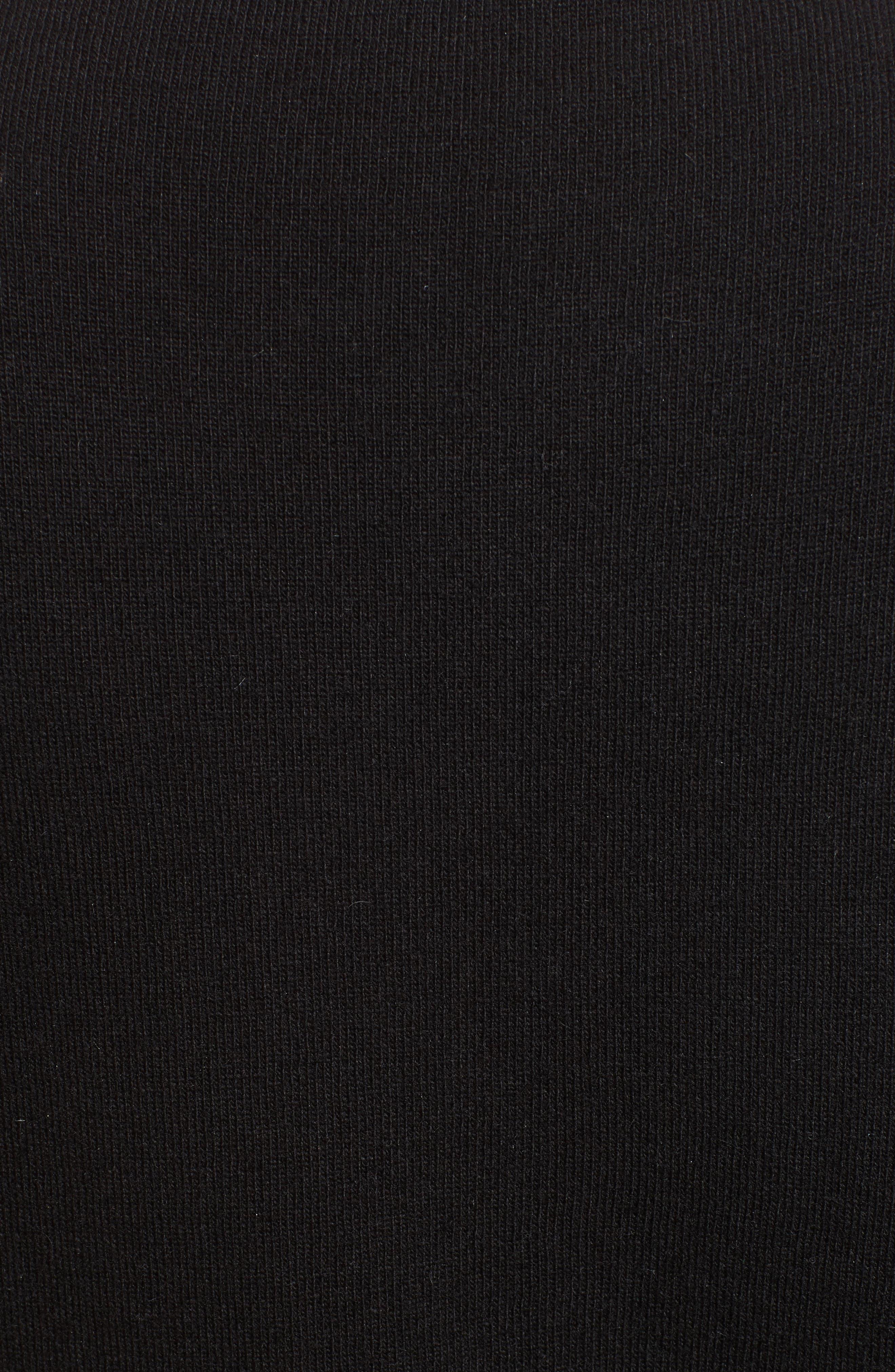 Tie Neck Star Sweater,                             Alternate thumbnail 5, color,                             Nero
