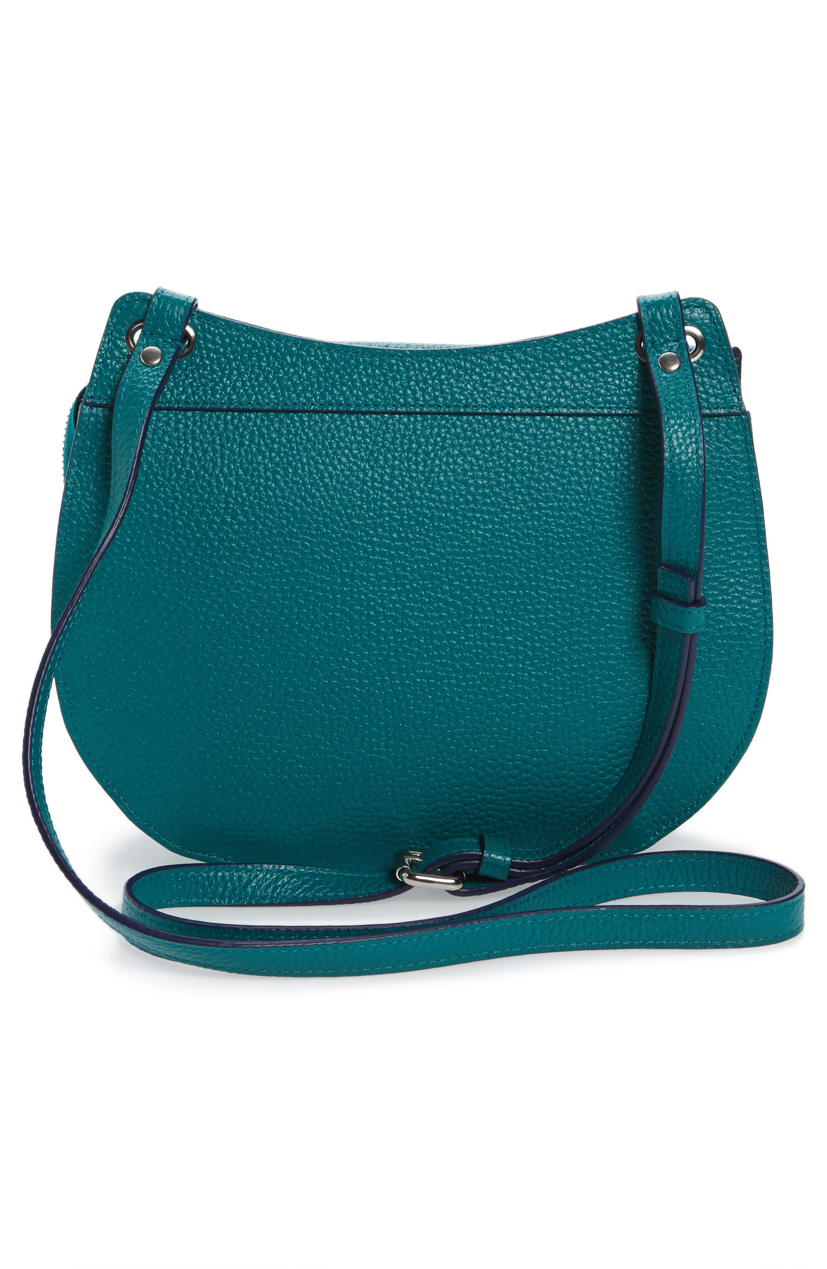 Alternate Image 2  - Halogen® Leather Saddle Bag