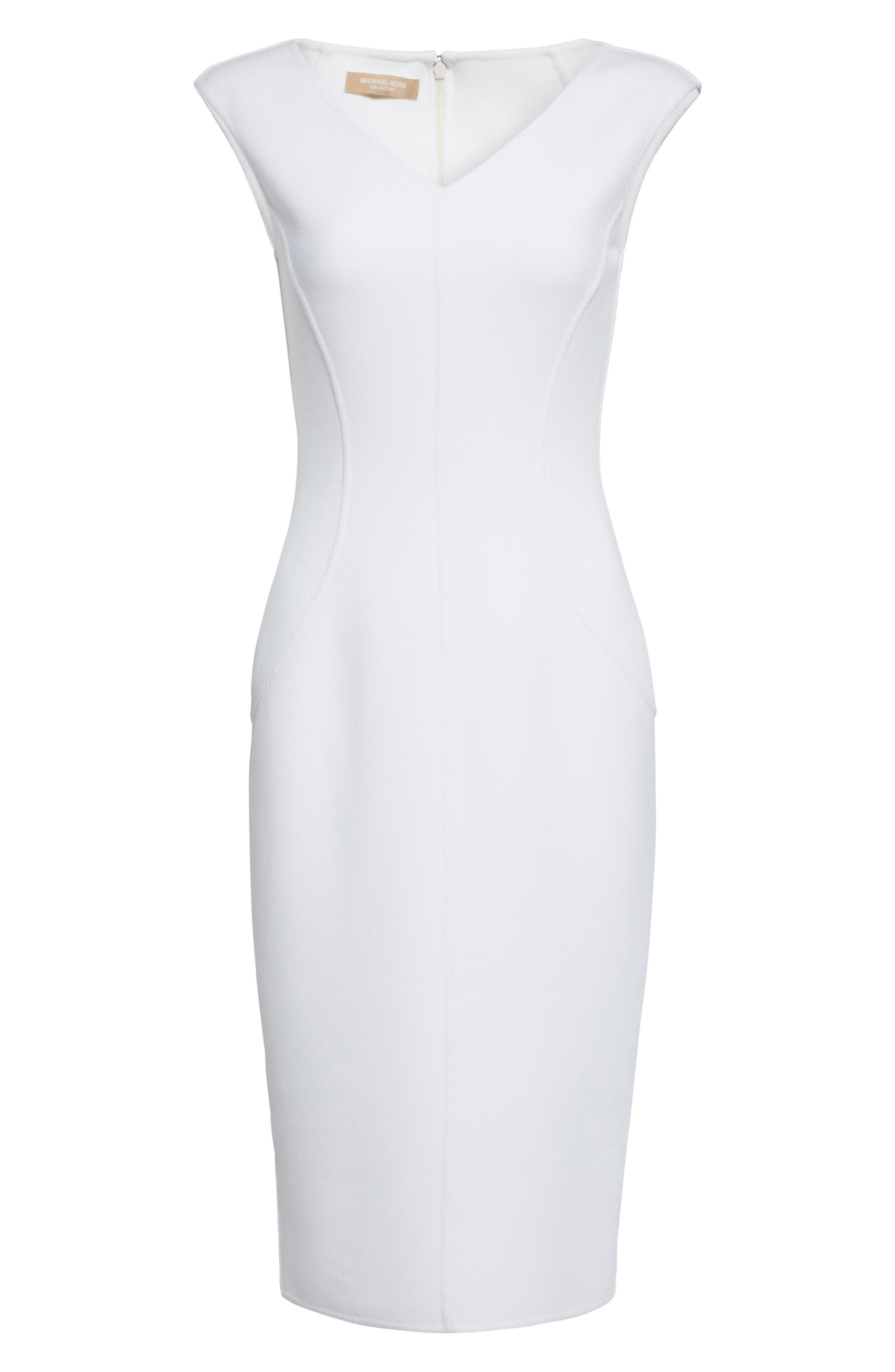 Alternate Image 4  - Michael Kors Stretch Bouclé Sheath Dress