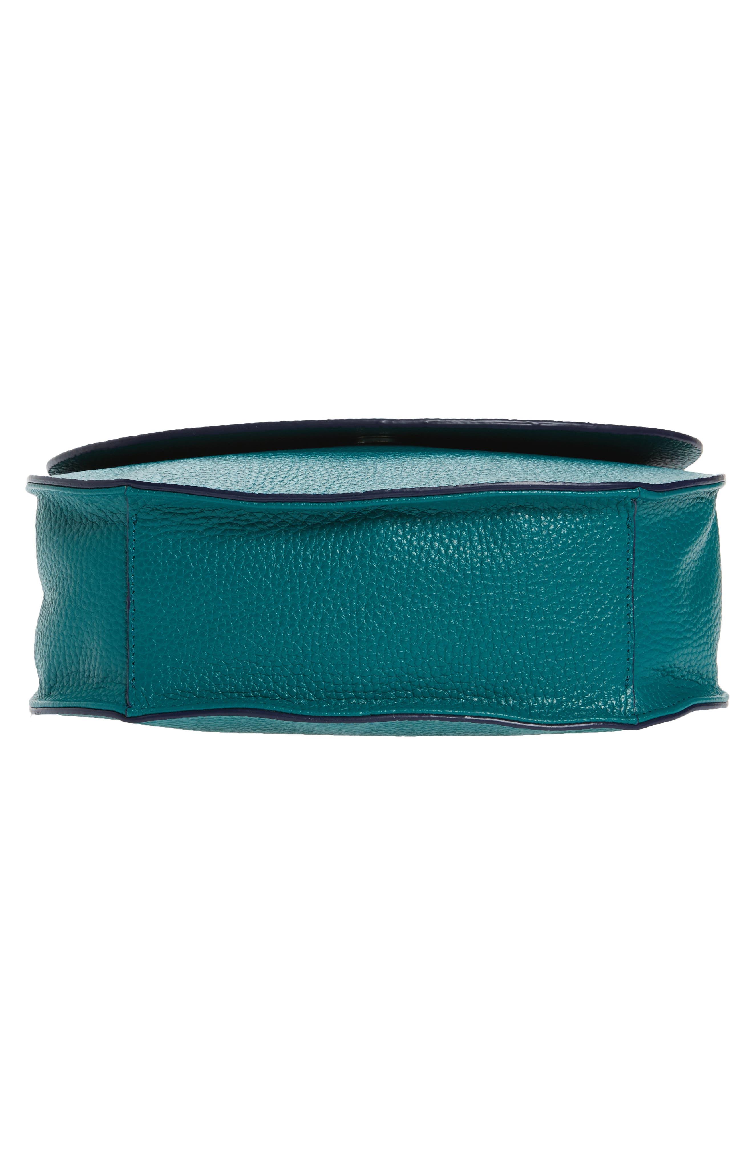 Alternate Image 5  - Halogen® Leather Saddle Bag