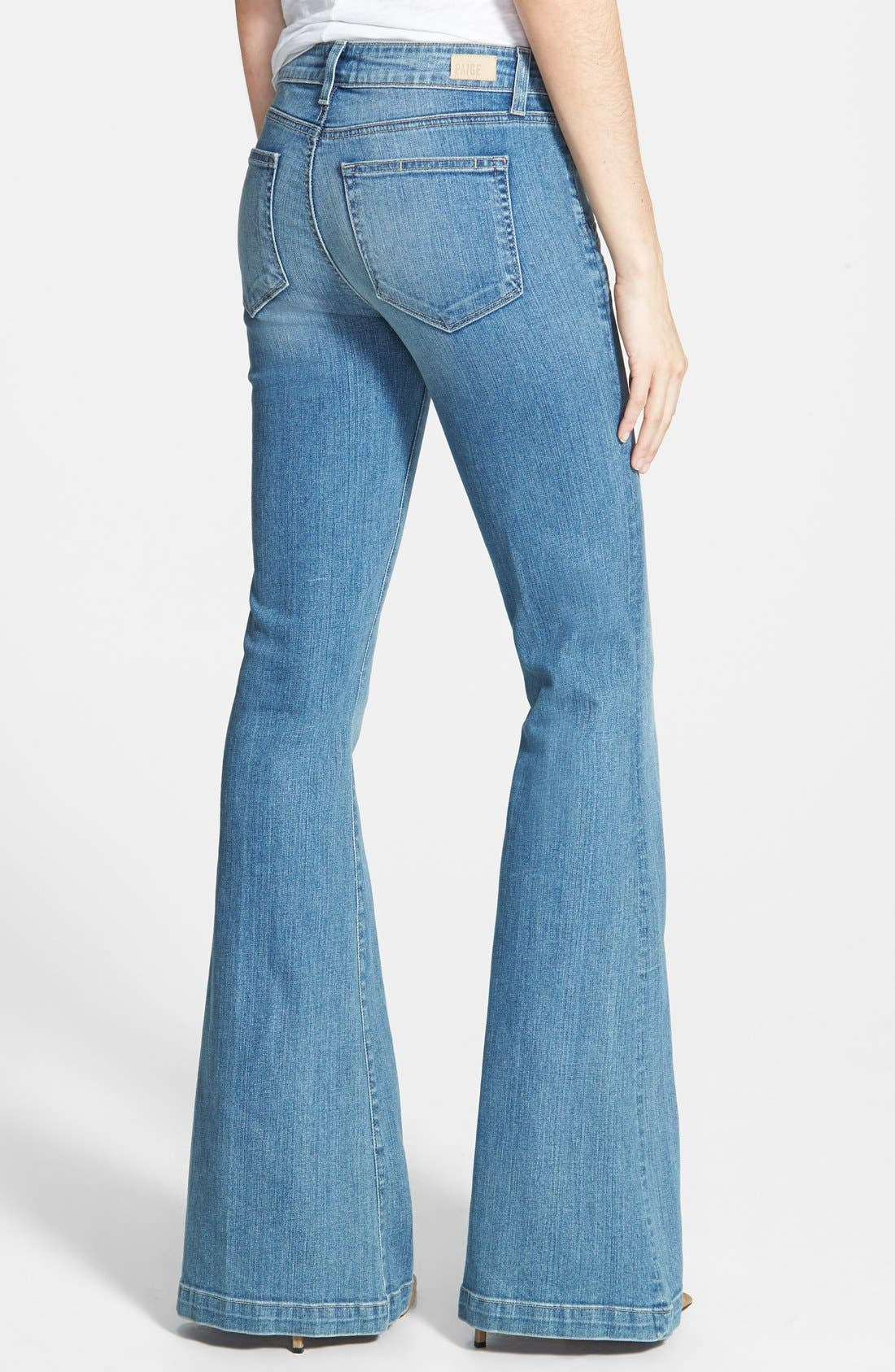 Denim 'Fionna' Flare Jeans,                             Alternate thumbnail 2, color,                             Paulina No Whiskers
