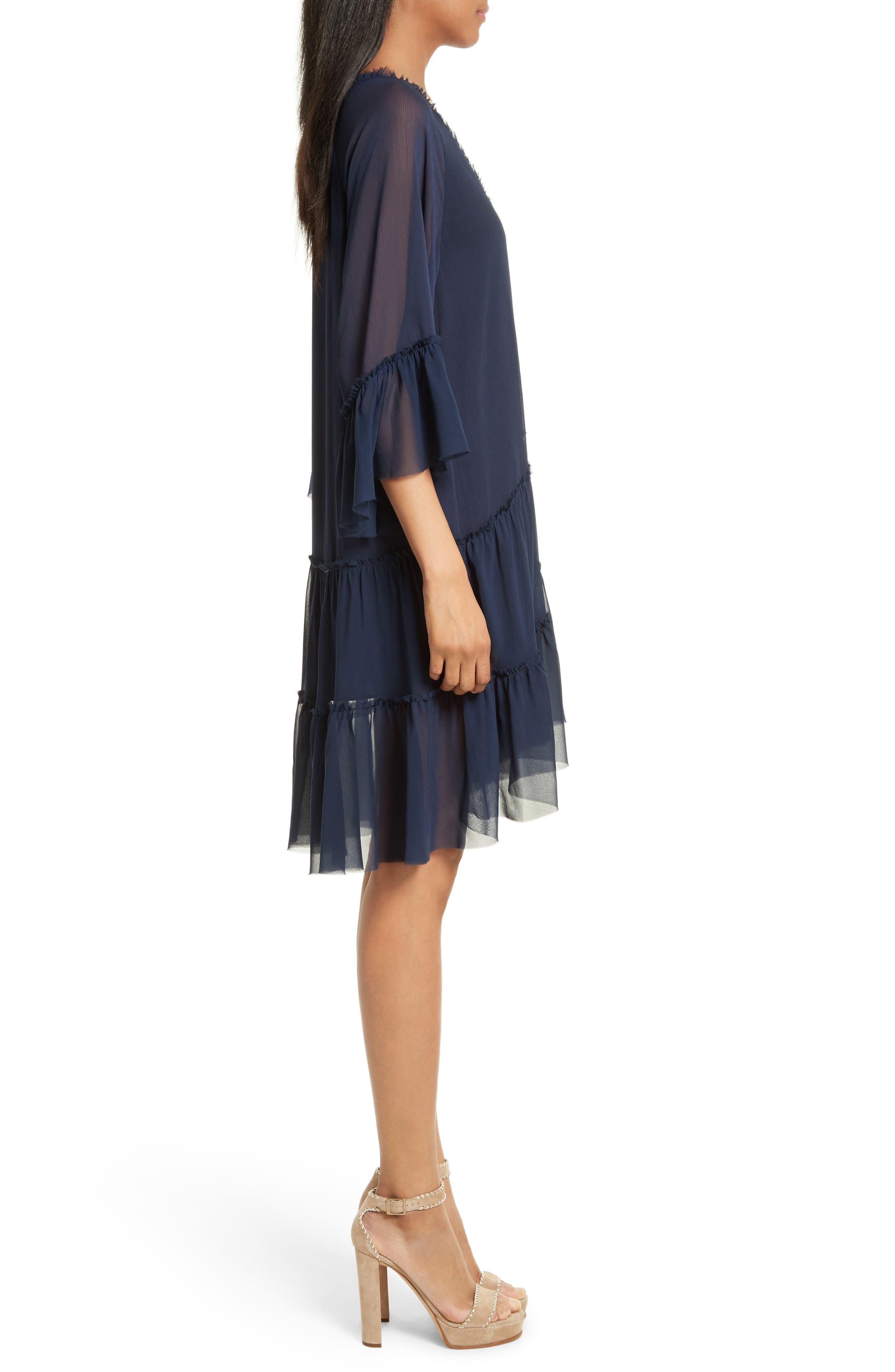 Zoey Drop Waist Dress,                             Alternate thumbnail 3, color,                             Sapphire