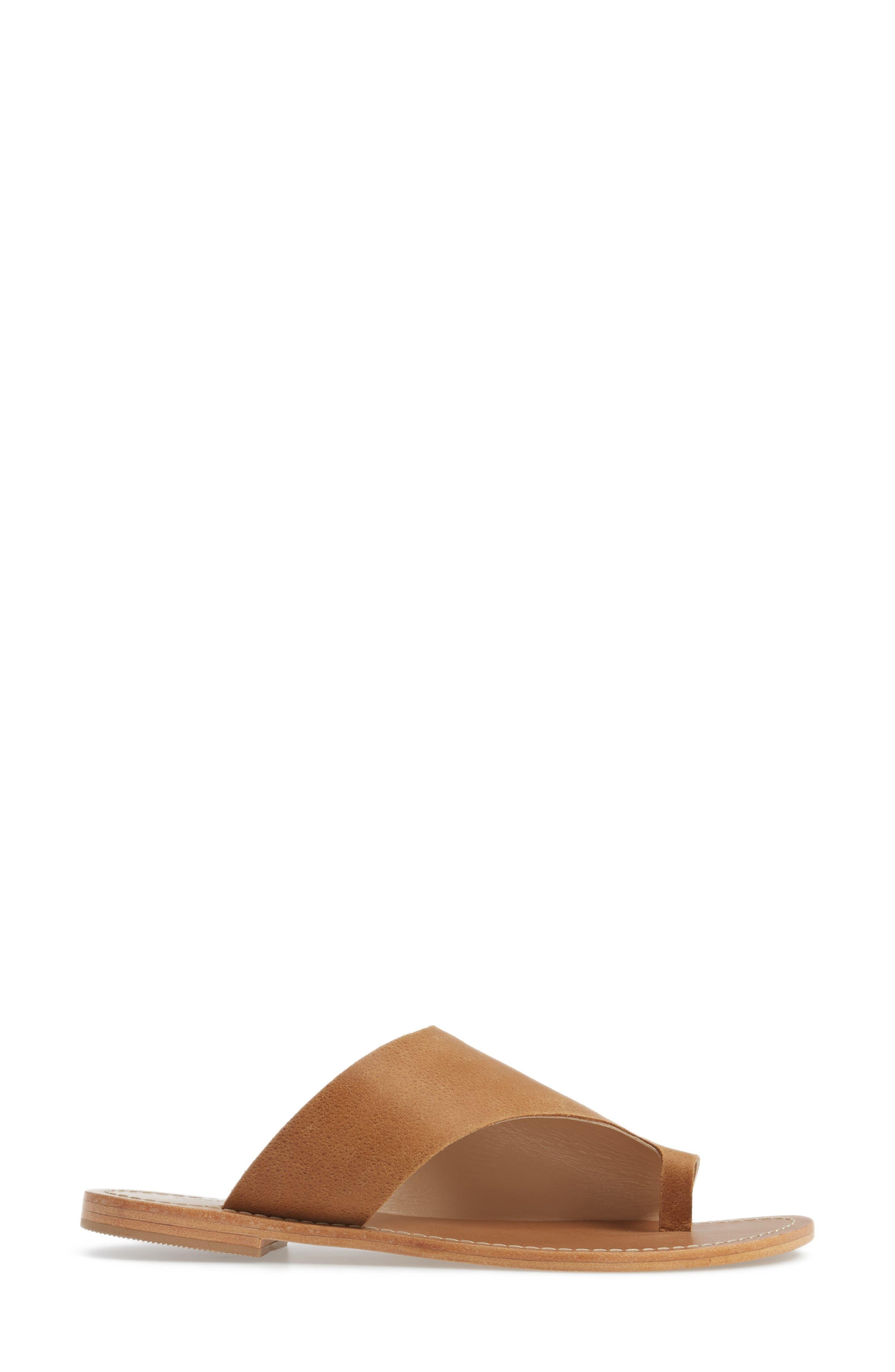 Fleet Slide Sandal,                             Alternate thumbnail 3, color,                             Tan Leather