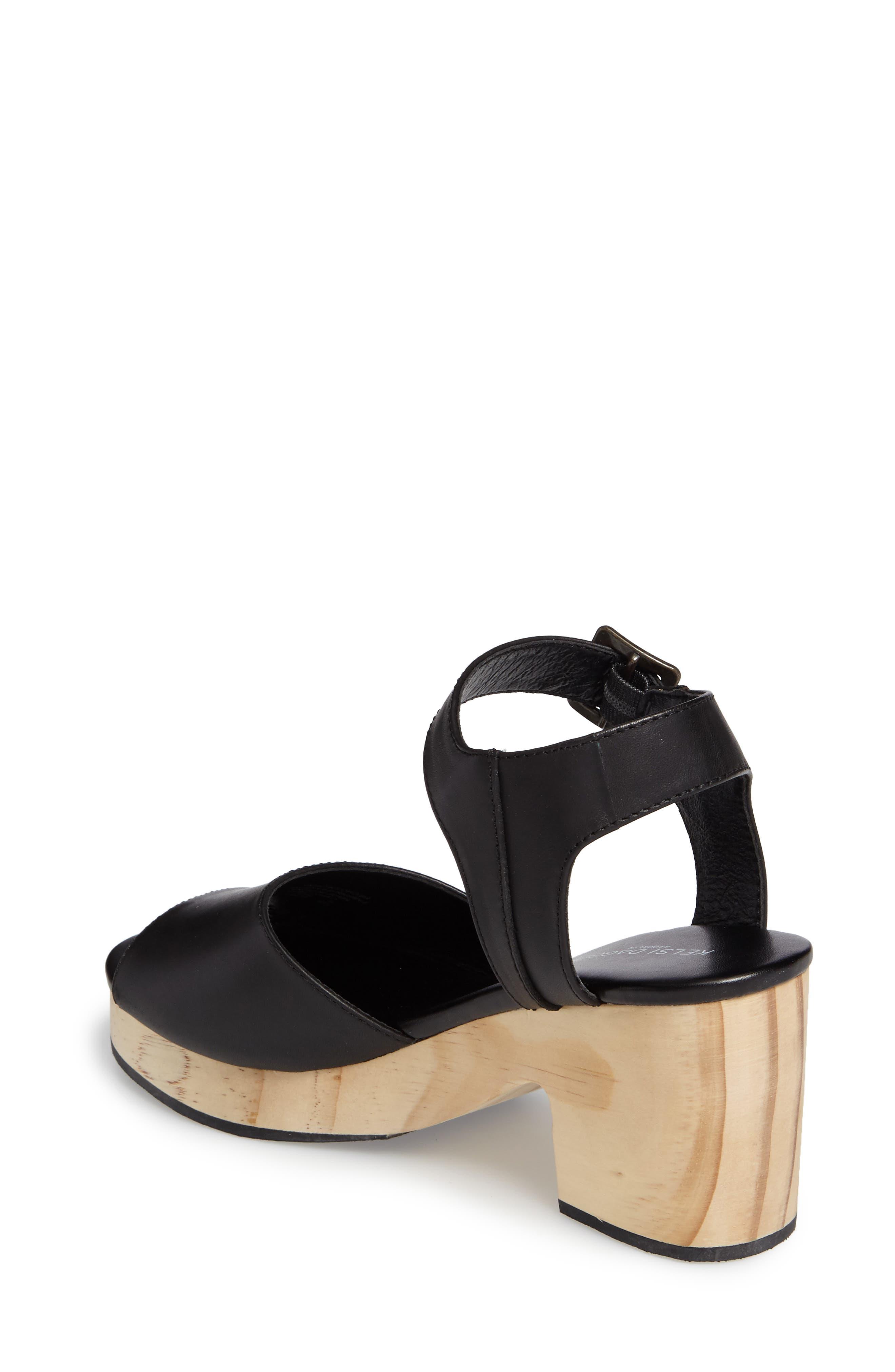 Montgomery Platform Sandal,                             Alternate thumbnail 2, color,                             Black Leather