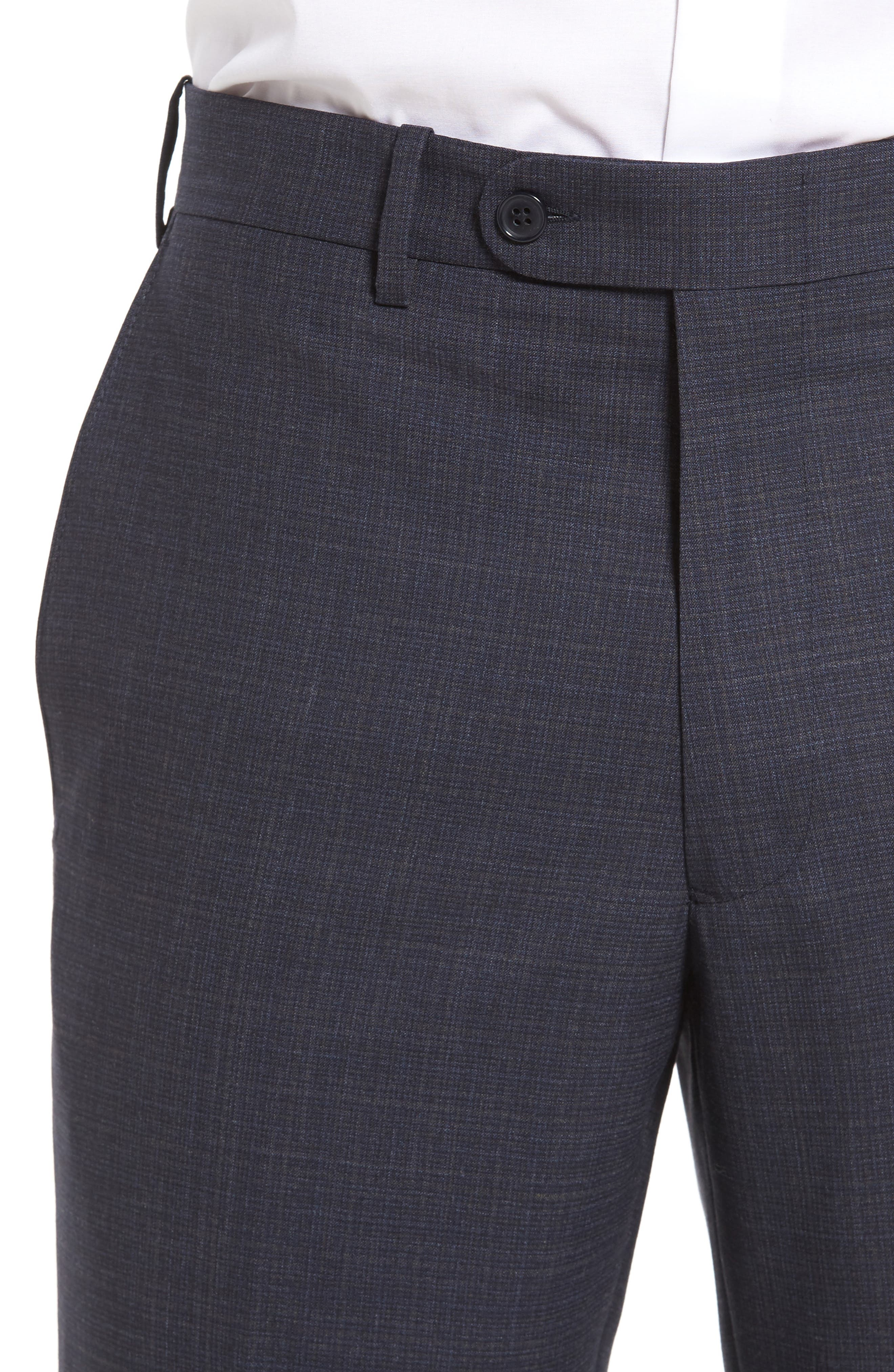 Alternate Image 4  - JB Britches Flat Front Plaid Wool Trousers