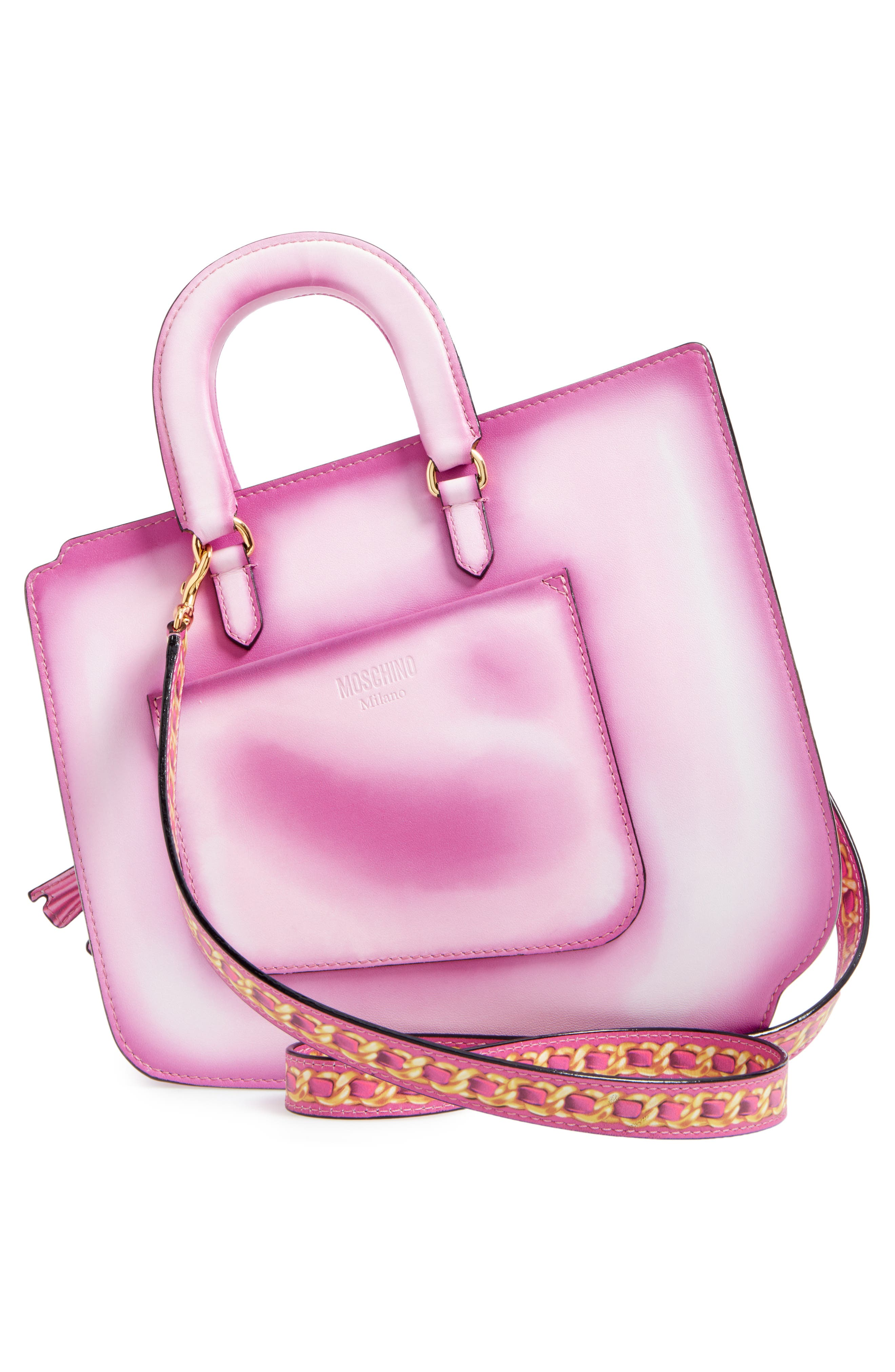 Alternate Image 3  - Moschino 2D Double Handle Leather Tote