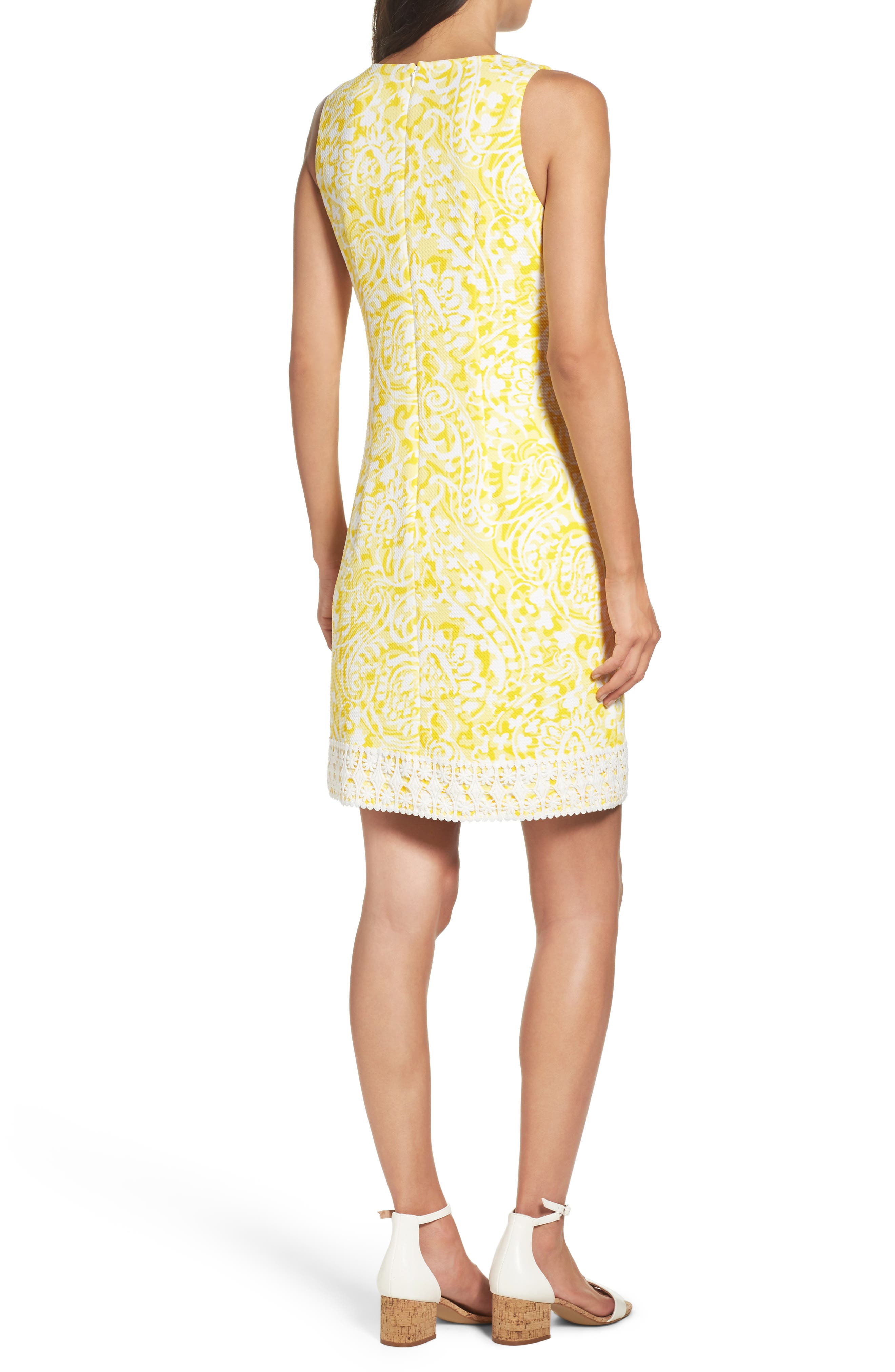 Print Shift Dress,                             Alternate thumbnail 2, color,                             Yellow