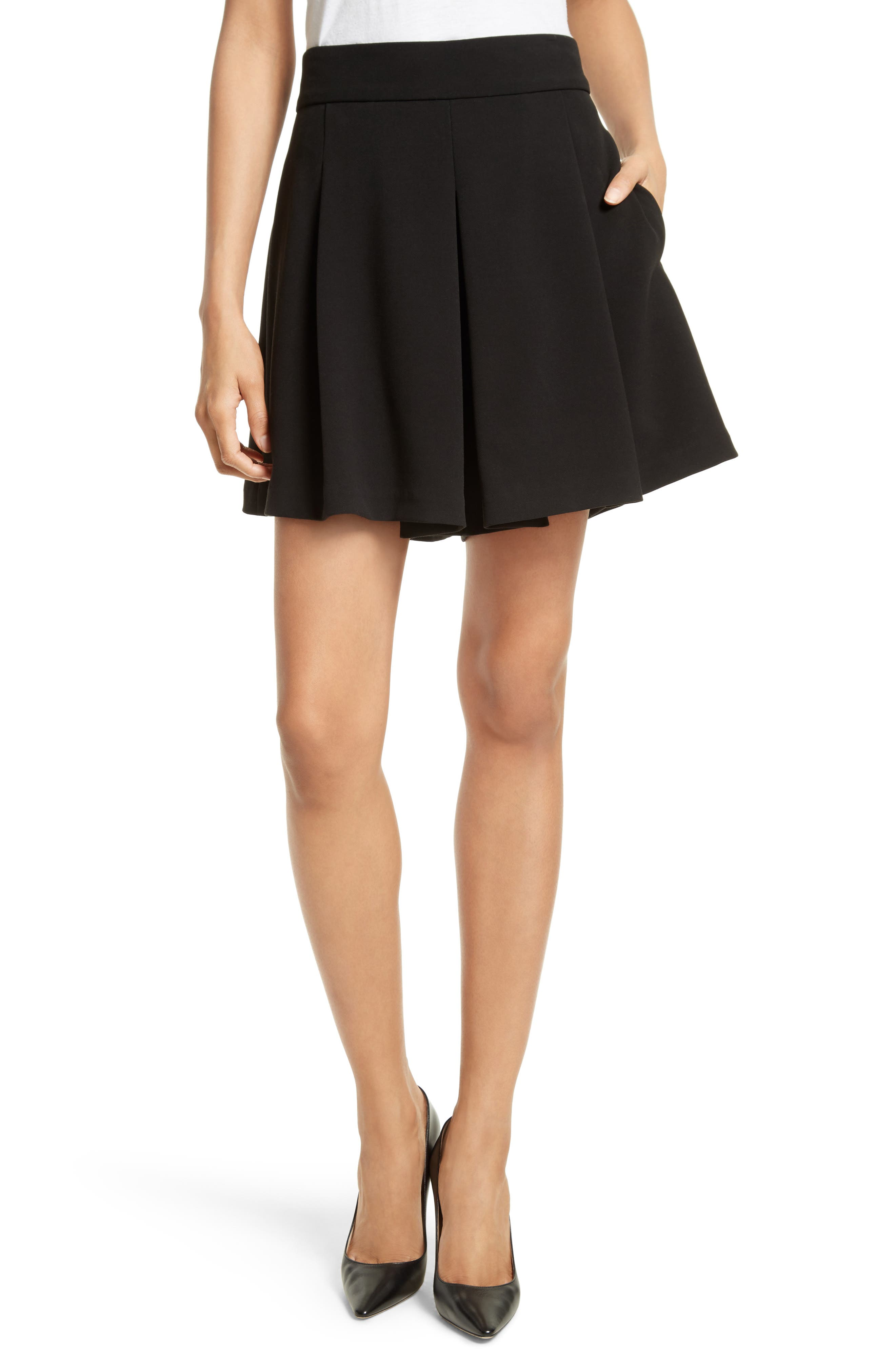 Alice + Olivia Olette Pleat Shorts