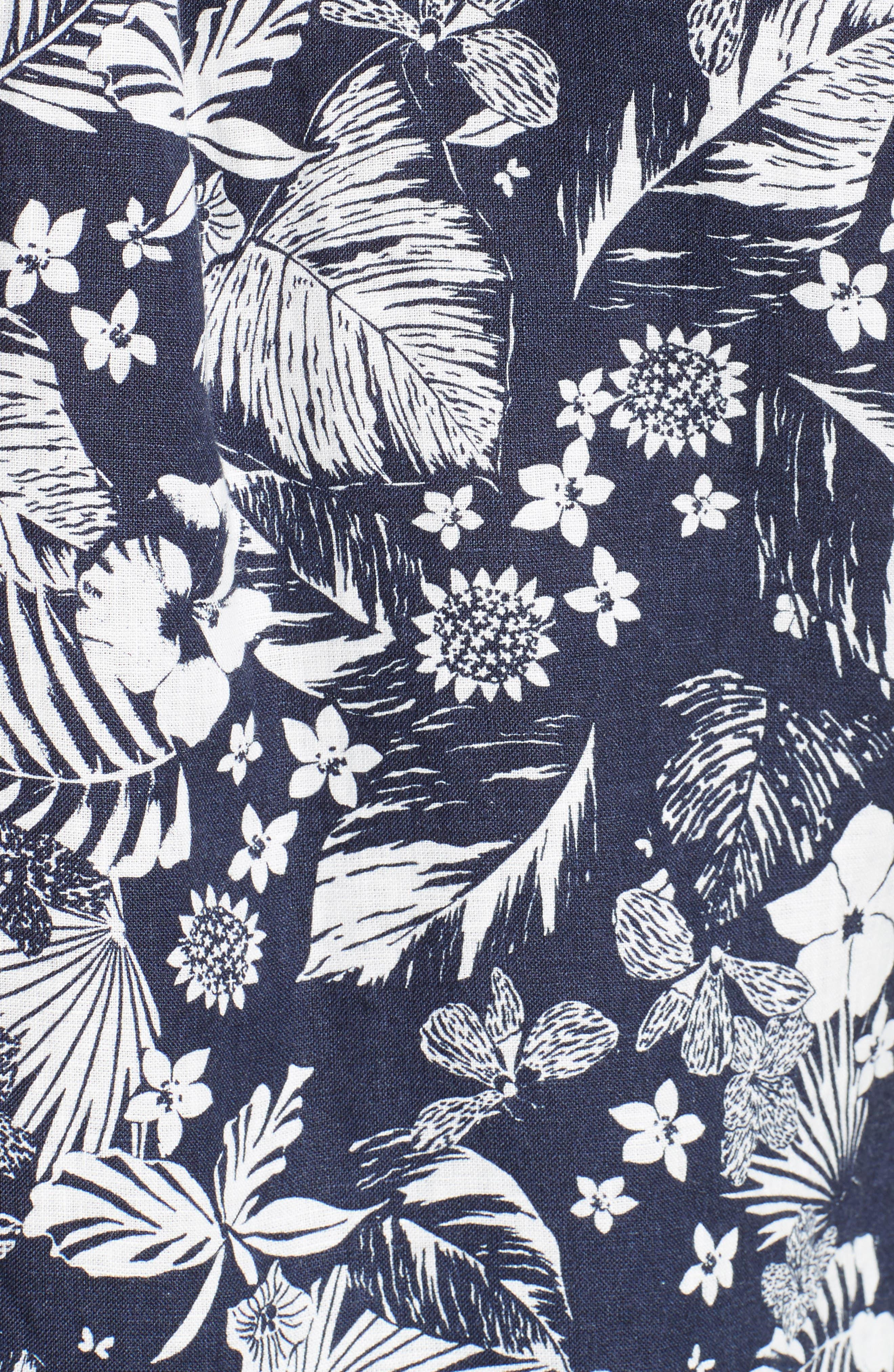 Alternate Image 5  - Todd Snyder Trim Fit Floral Print Linen Camp Shirt