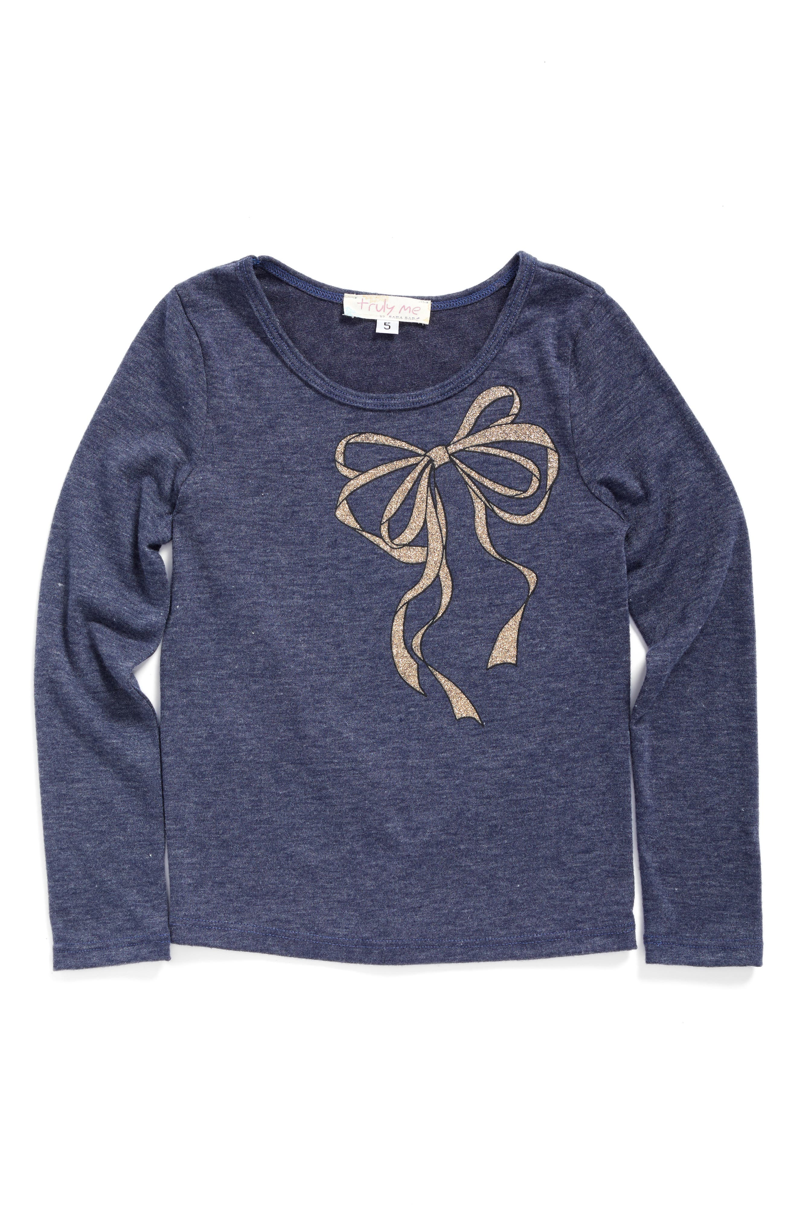 TRULY ME Glitter Bow Tee