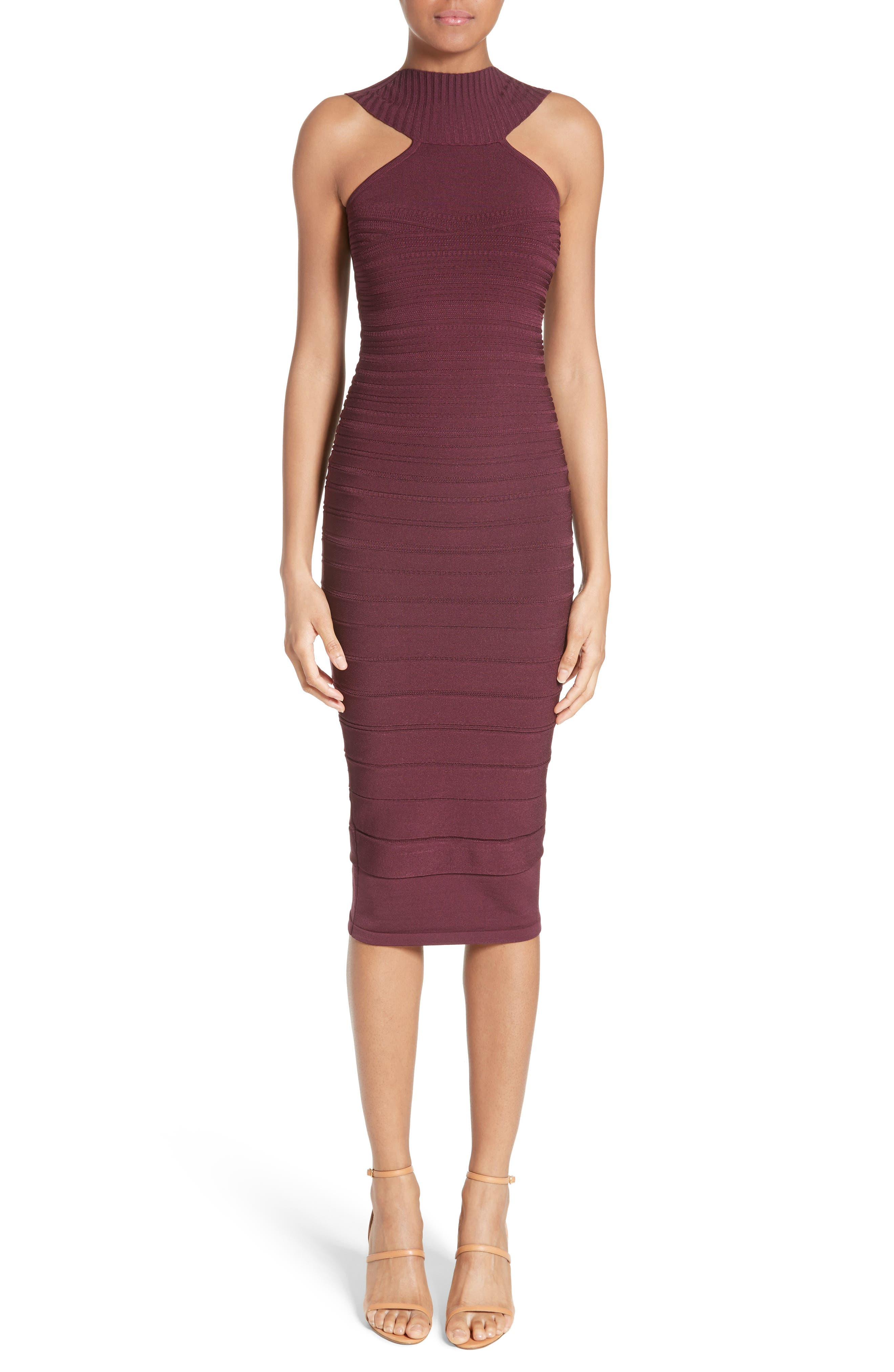 Cushnie et Ochs Knit High Neck Dress