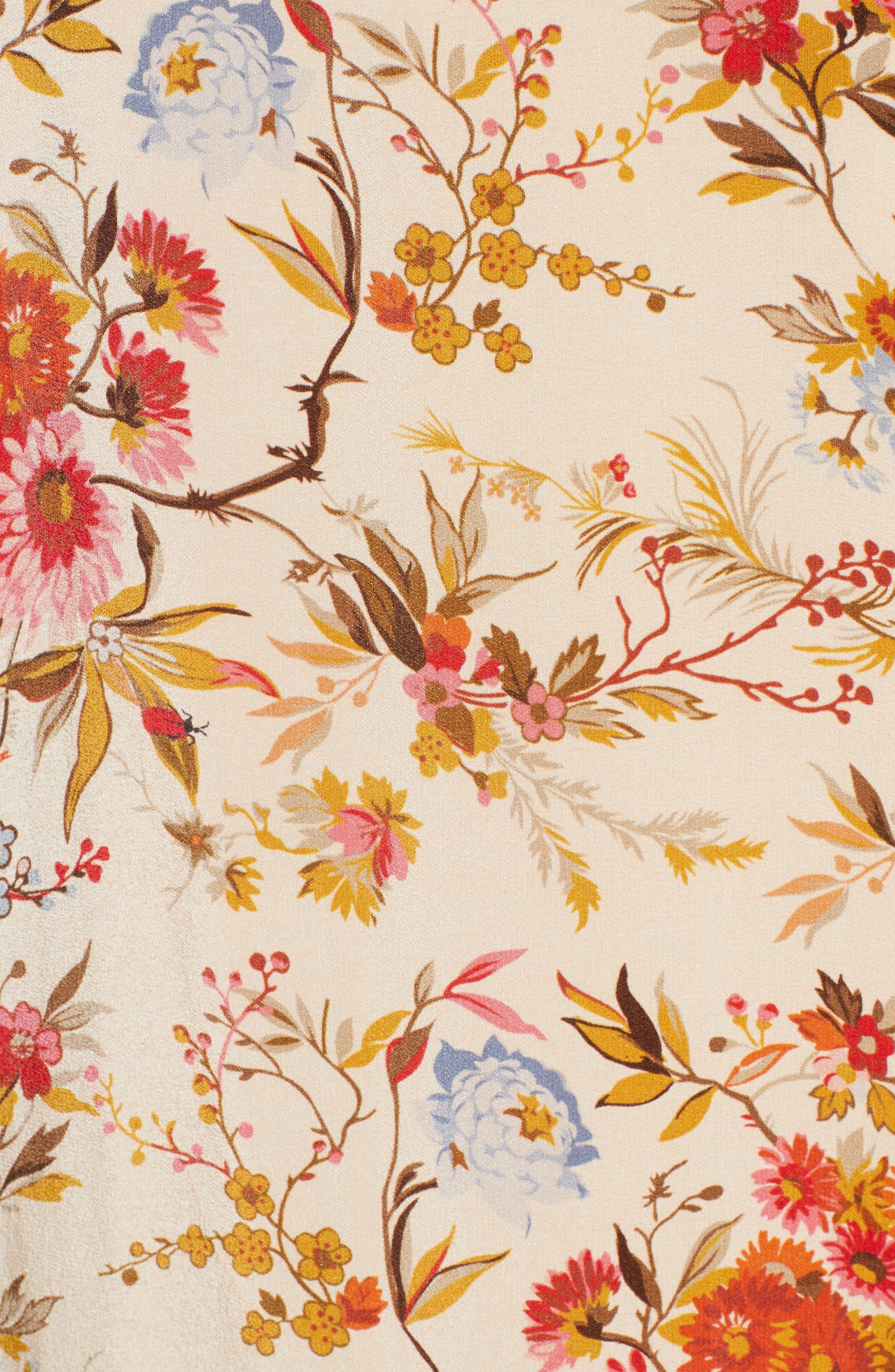 Alternate Image 5  - The Kooples Fleurs D'Artifice Floral Print Fringe Kimono