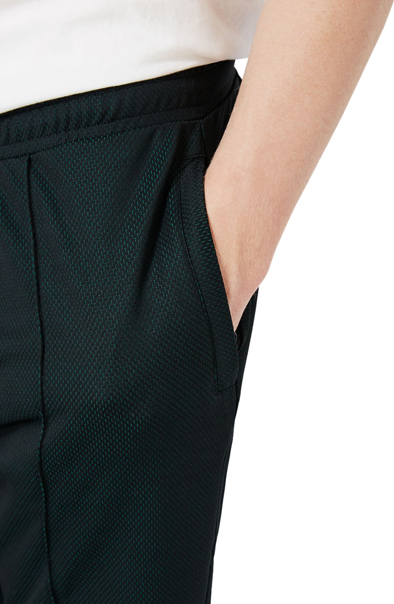 Alternate Image 4  - Topman Two Tone Mesh Jersey Shorts