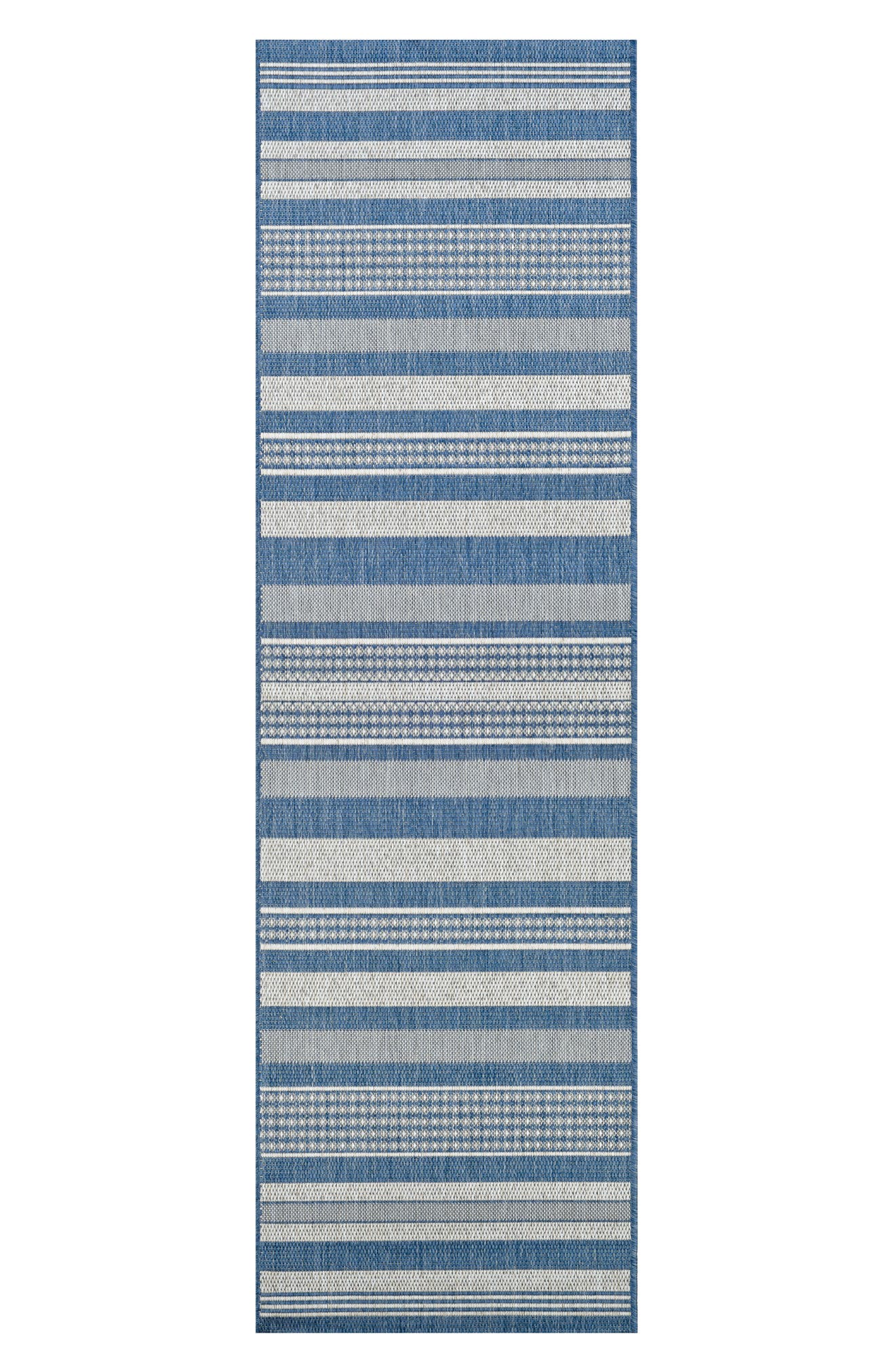 Gazebo Indoor/Outdoor Rug,                             Alternate thumbnail 2, color,                             Champagne/ Blue