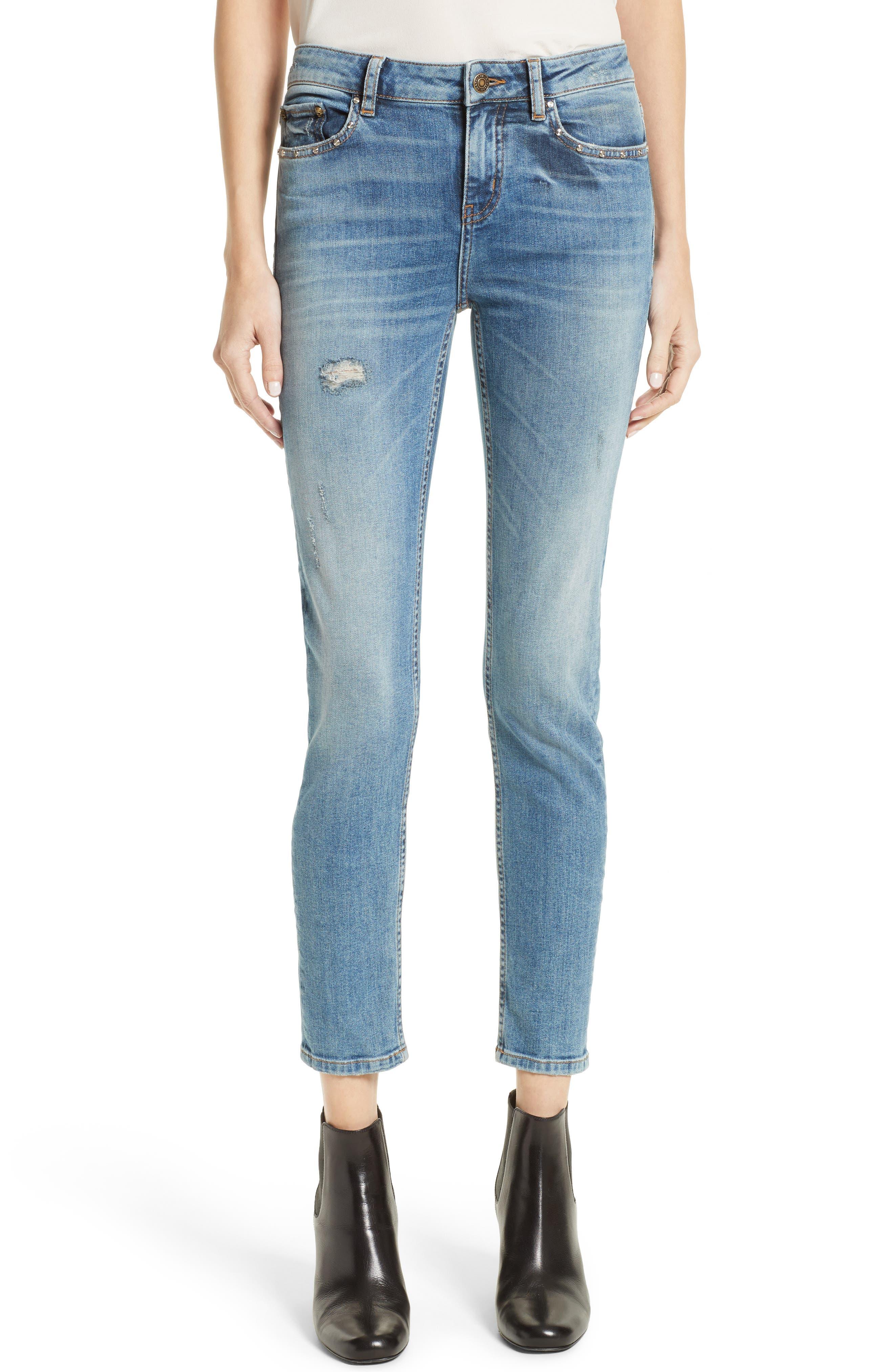The Kooples Blue Billy Crop Skinny Jeans