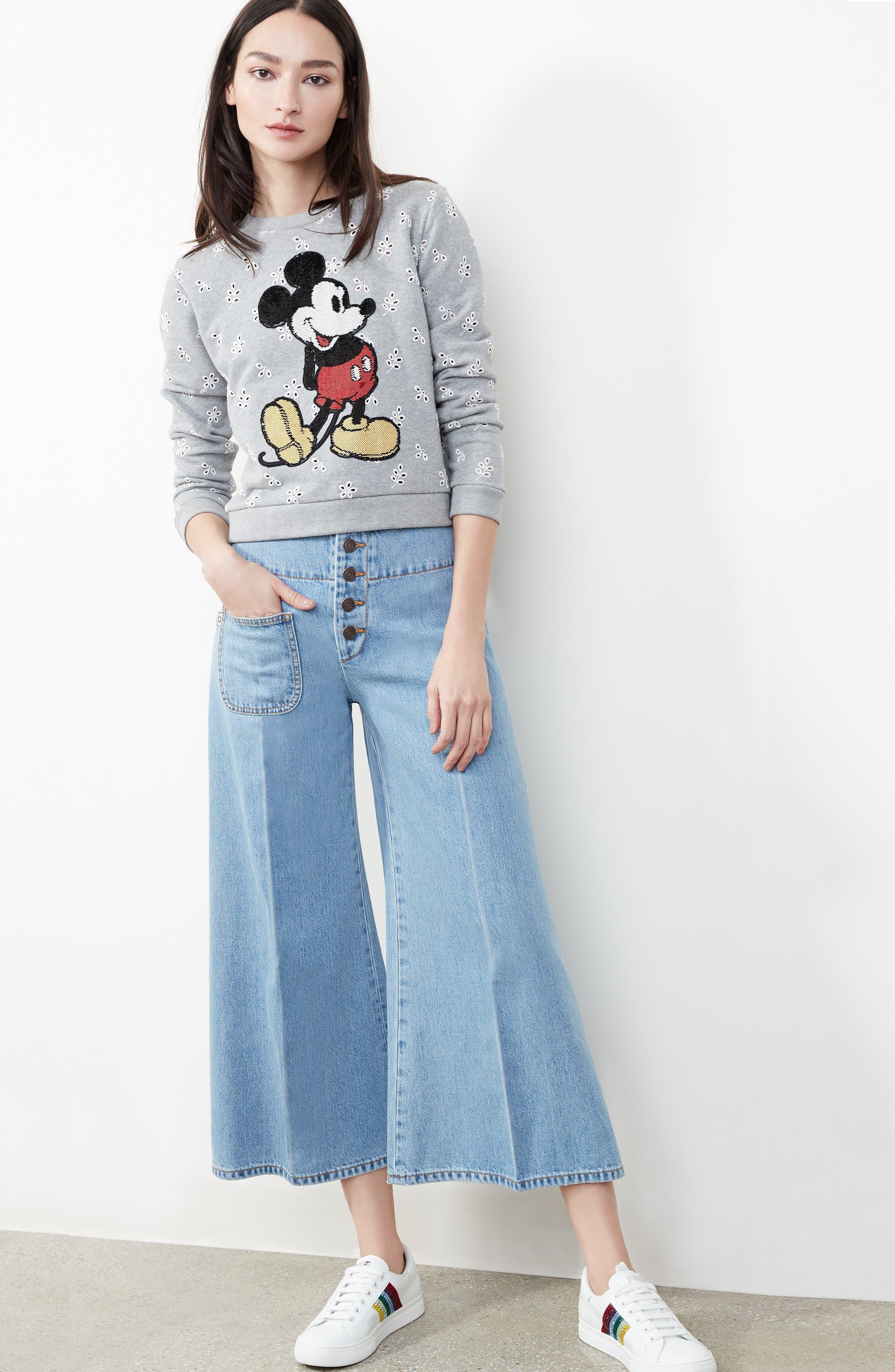 Alternate Image 8  - MARC JACOBS Embellished Mickey Shrunken Sweatshirt