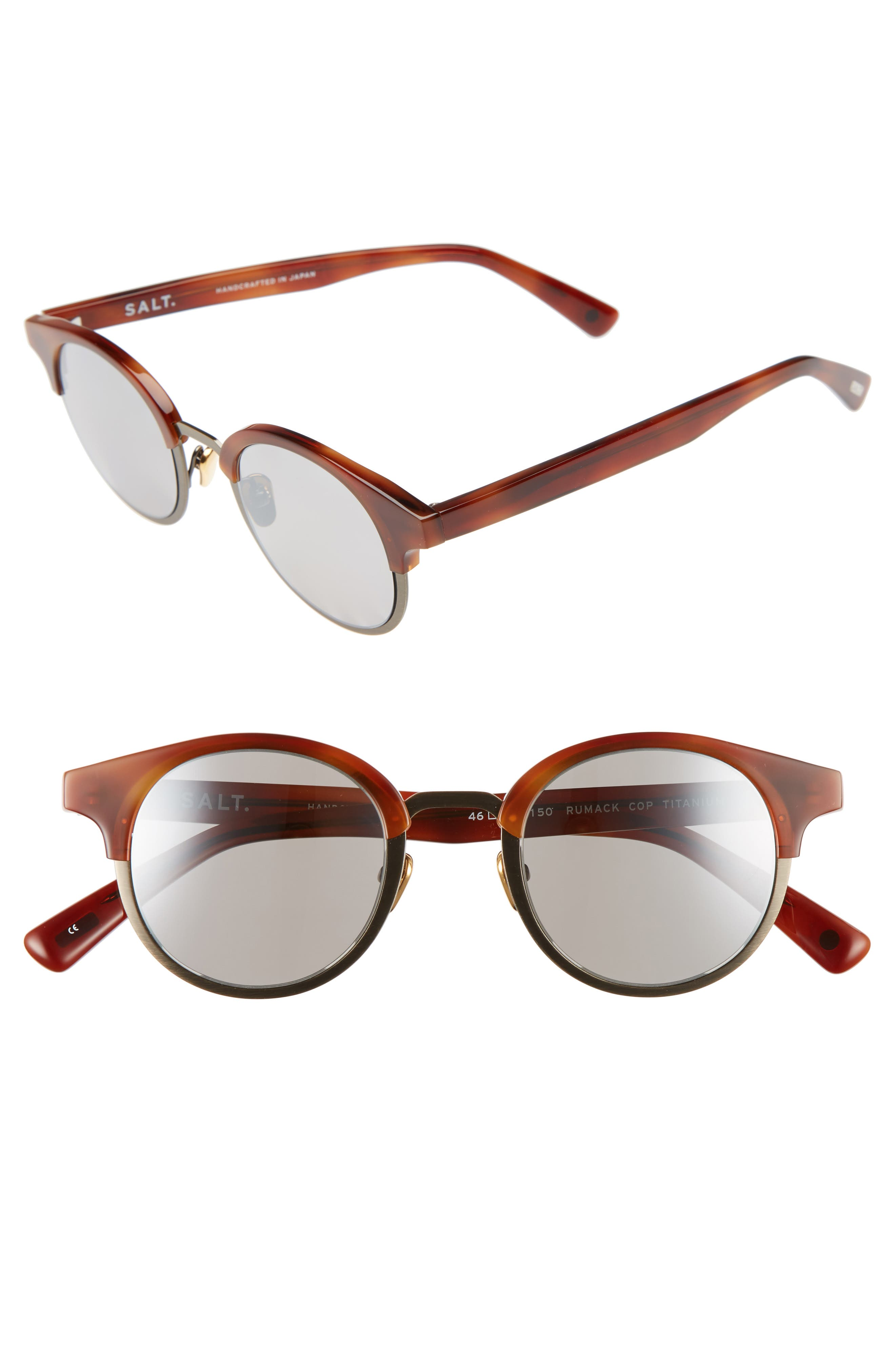 Rumack 46mm Polarized Sunglasses,                         Main,                         color, Copper Tone/ Antique Gold