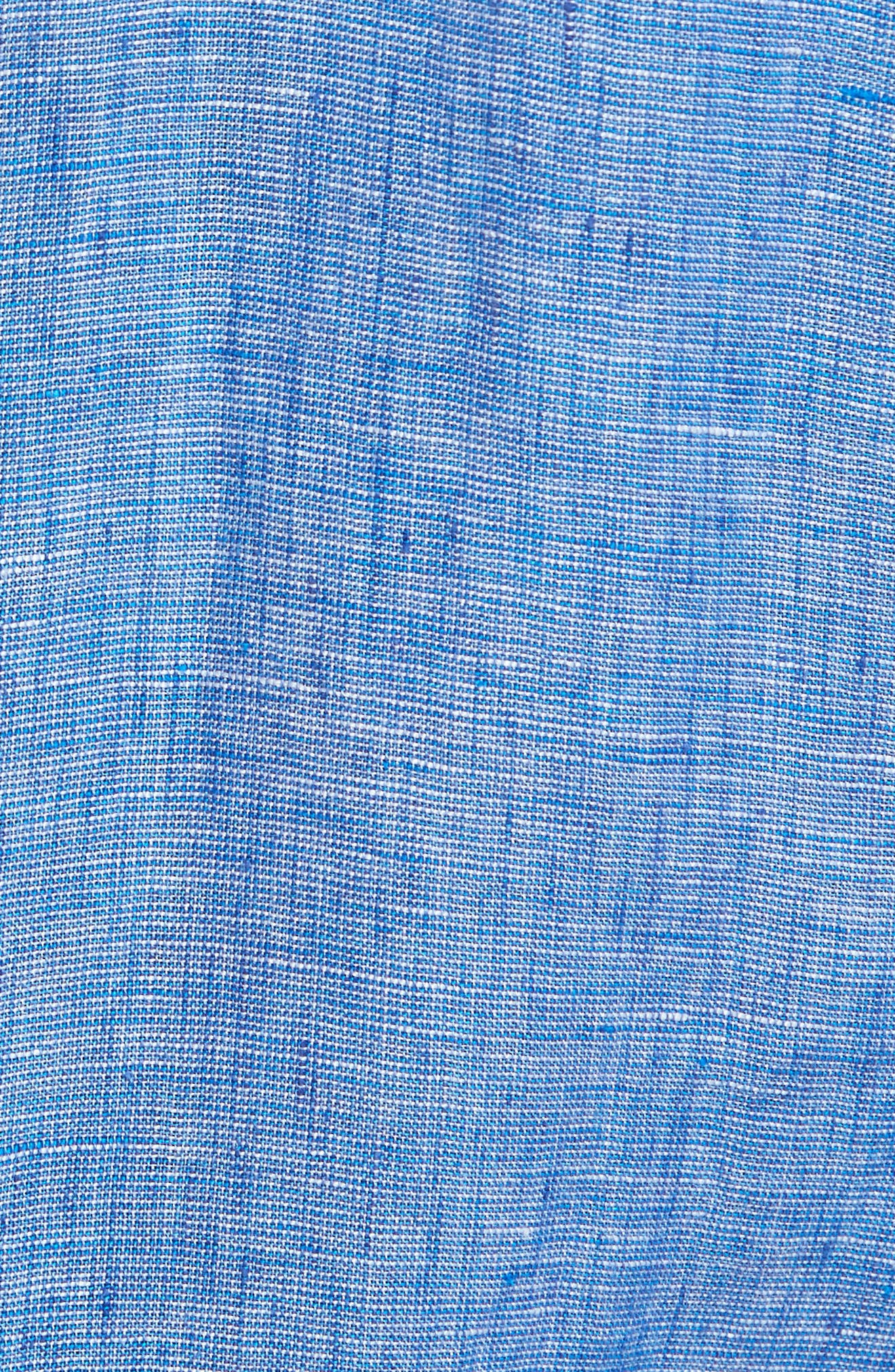 Norsewood Sports Fit Linen Sport Shirt,                             Alternate thumbnail 5, color,                             Ocean