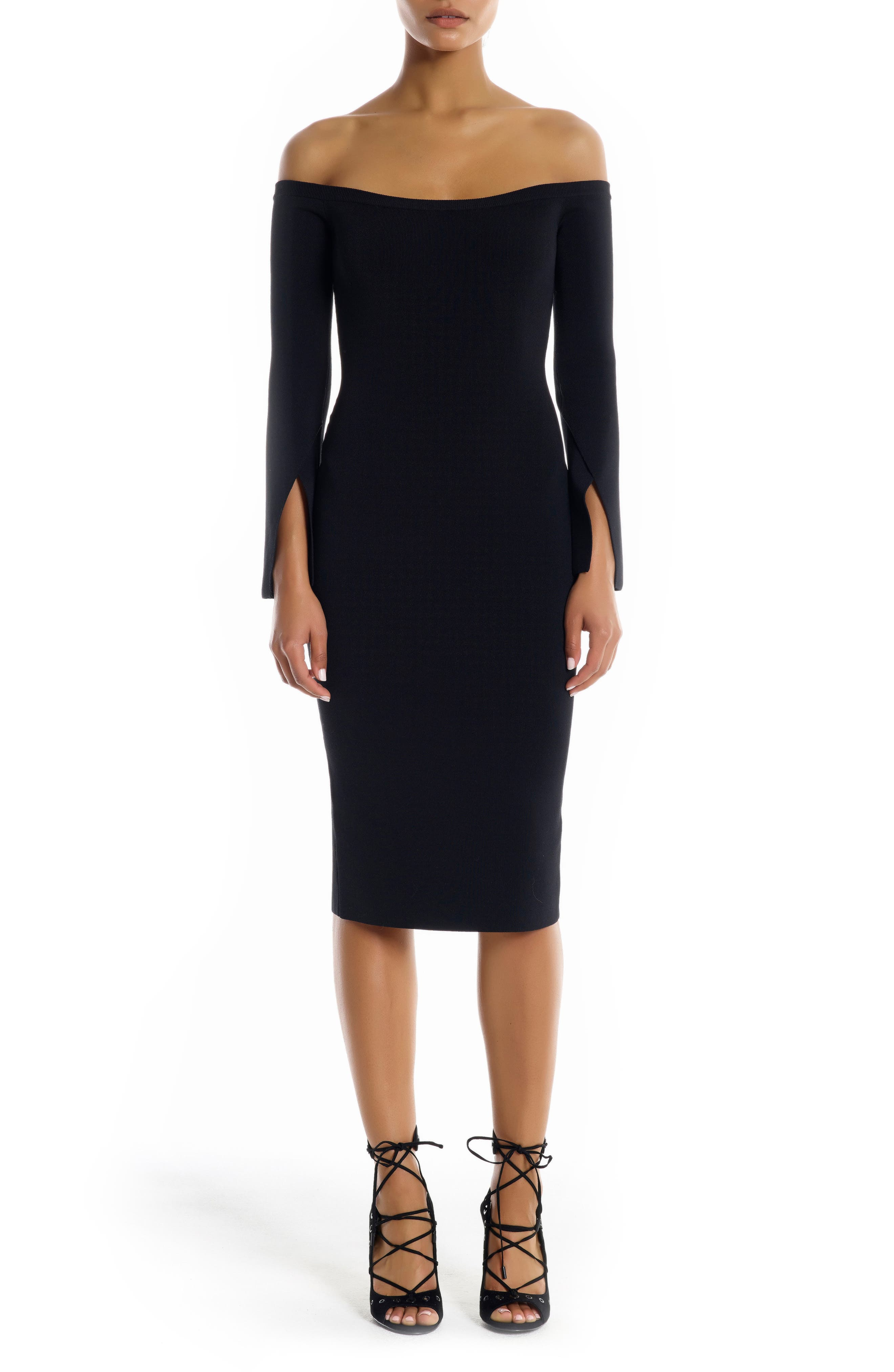 Main Image - KENDALL + KYLIE Off the Shoulder Body-Con Dress