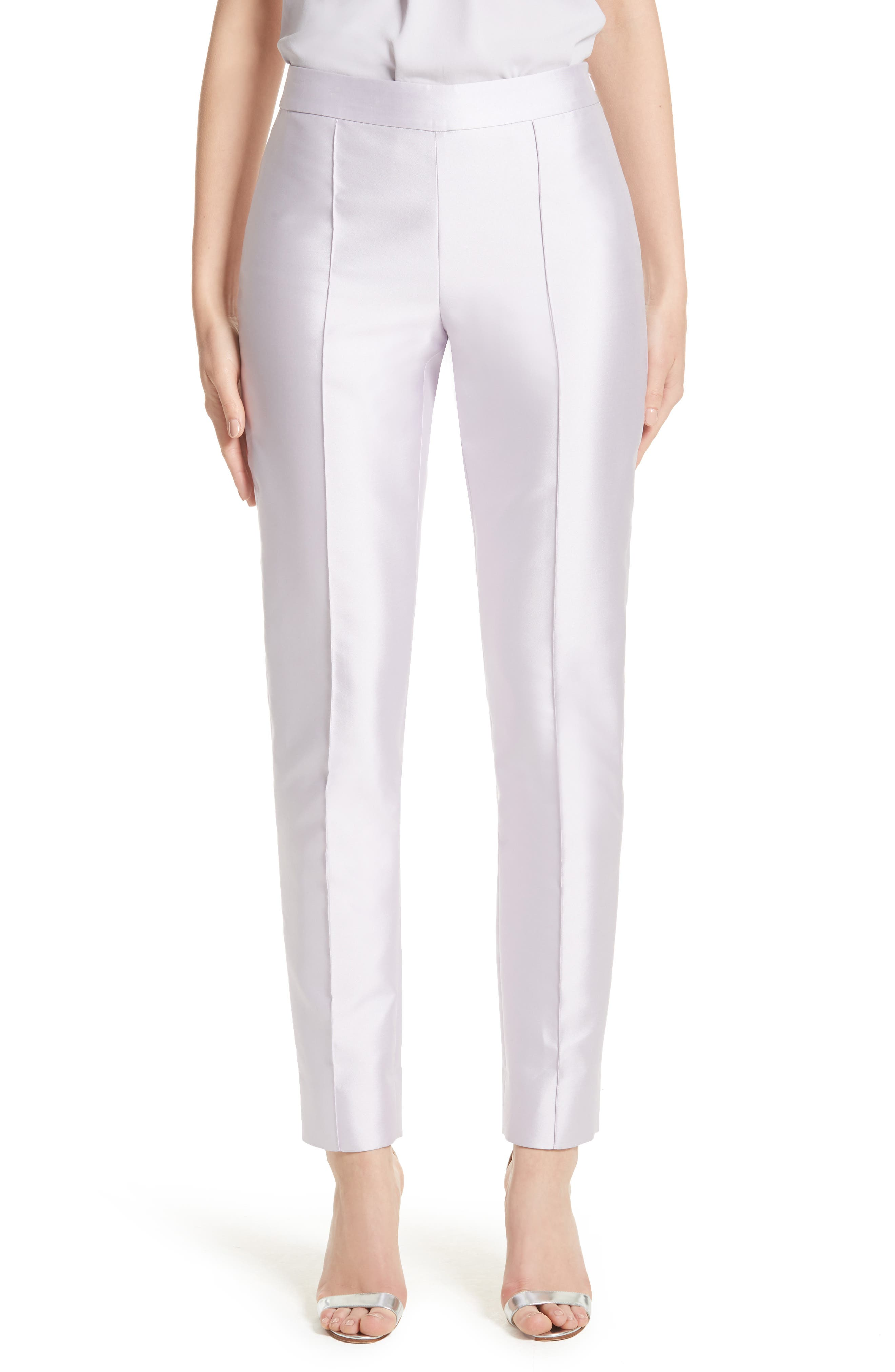 Main Image - St. John Collection Mikado Ankle Skinny Pants