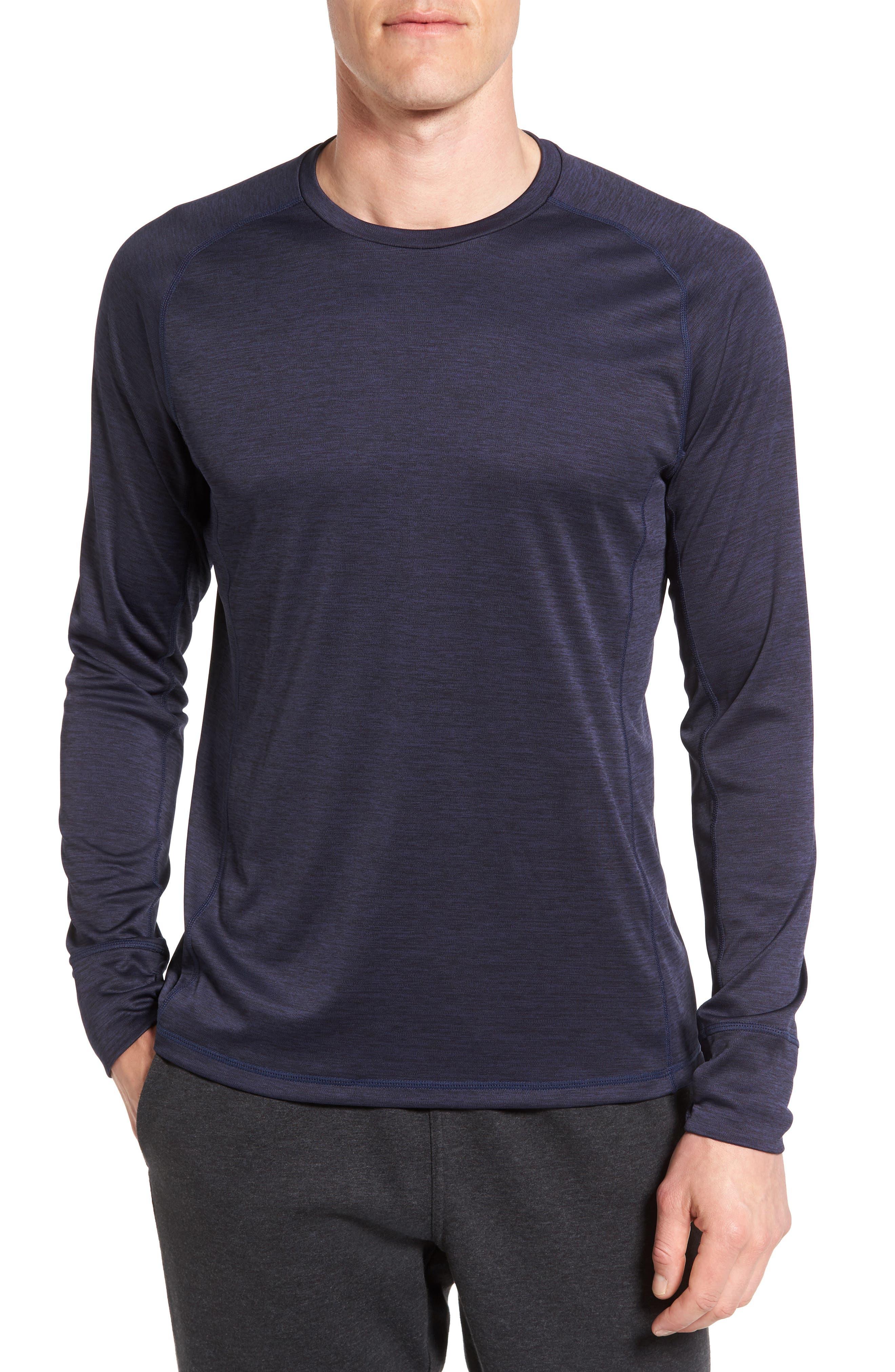 Triplite Long Sleeve T-Shirt,                         Main,                         color, Navy Malachite Melange