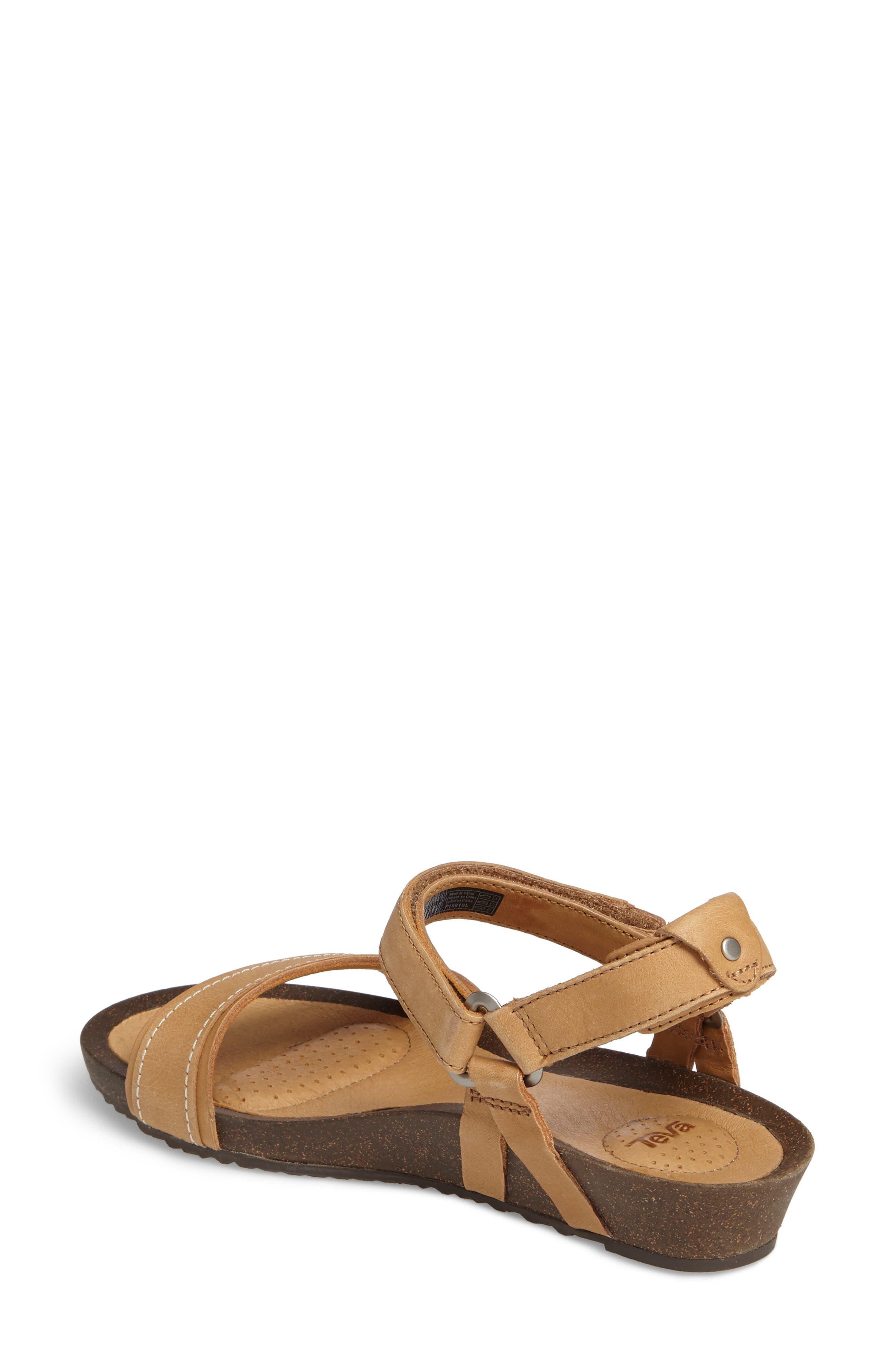 Ysidro Stitch Sandal,                             Alternate thumbnail 2, color,                             Tan Leather