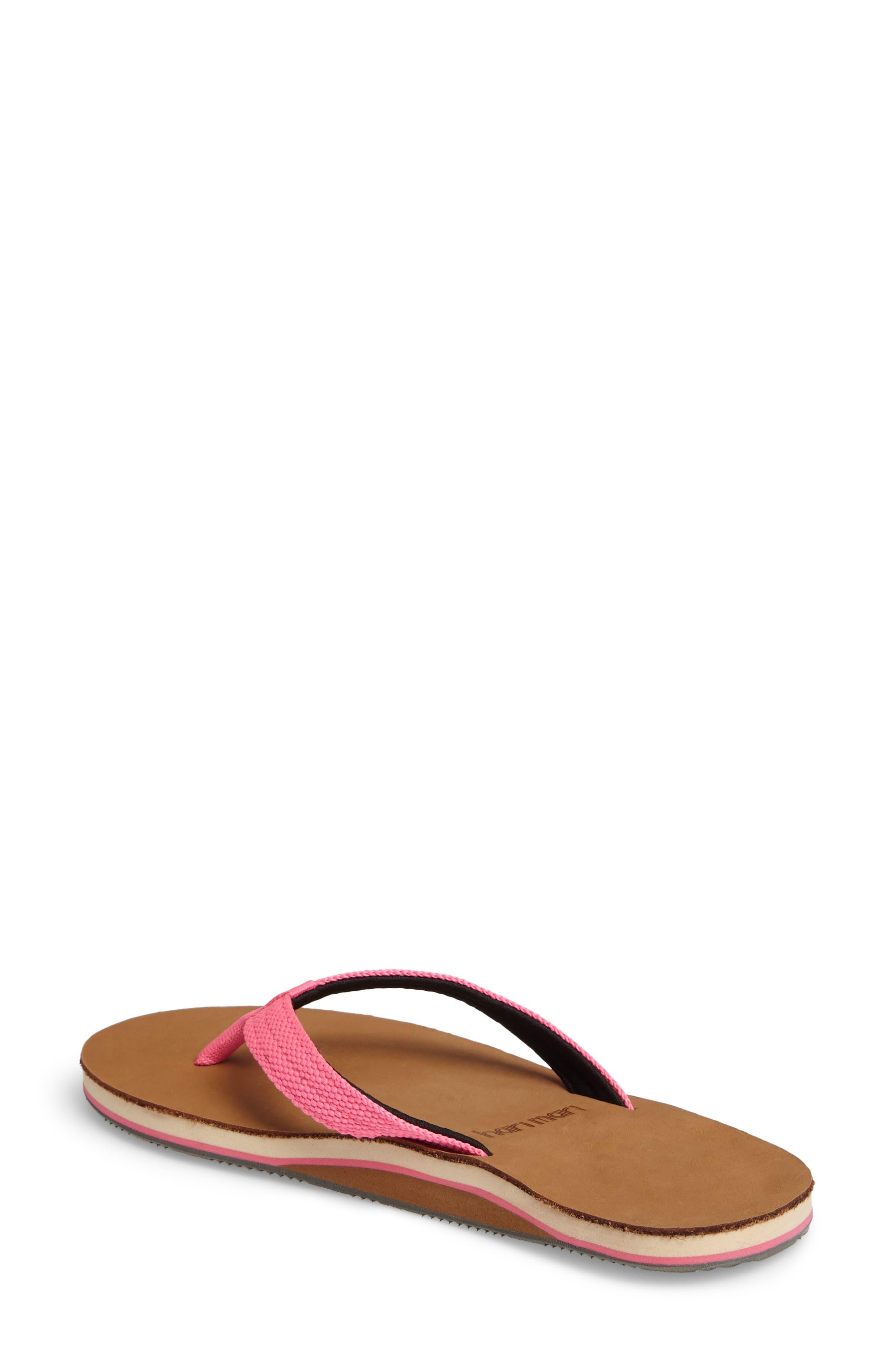 Scouts Flip Flop,                             Alternate thumbnail 2, color,                             Neon Pink/ Black