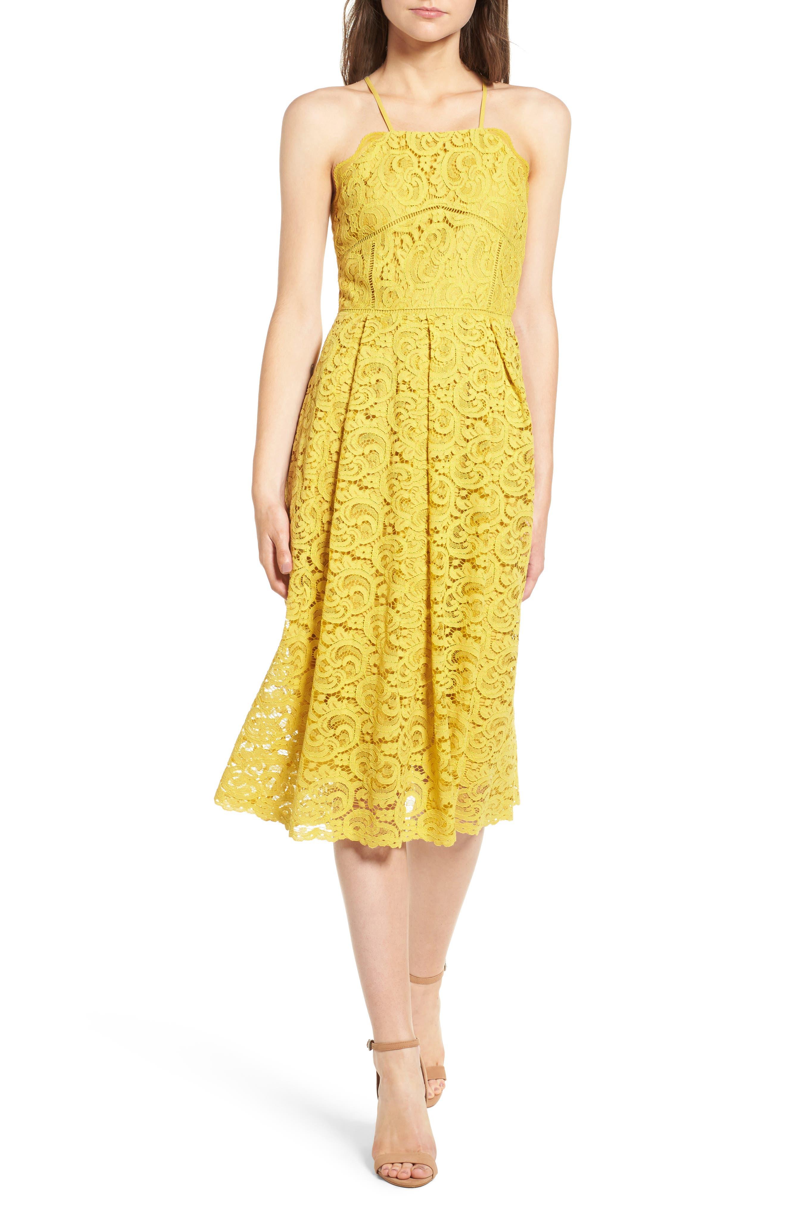 Alternate Image 1 Selected - J.O.A. Lace Midi Dress
