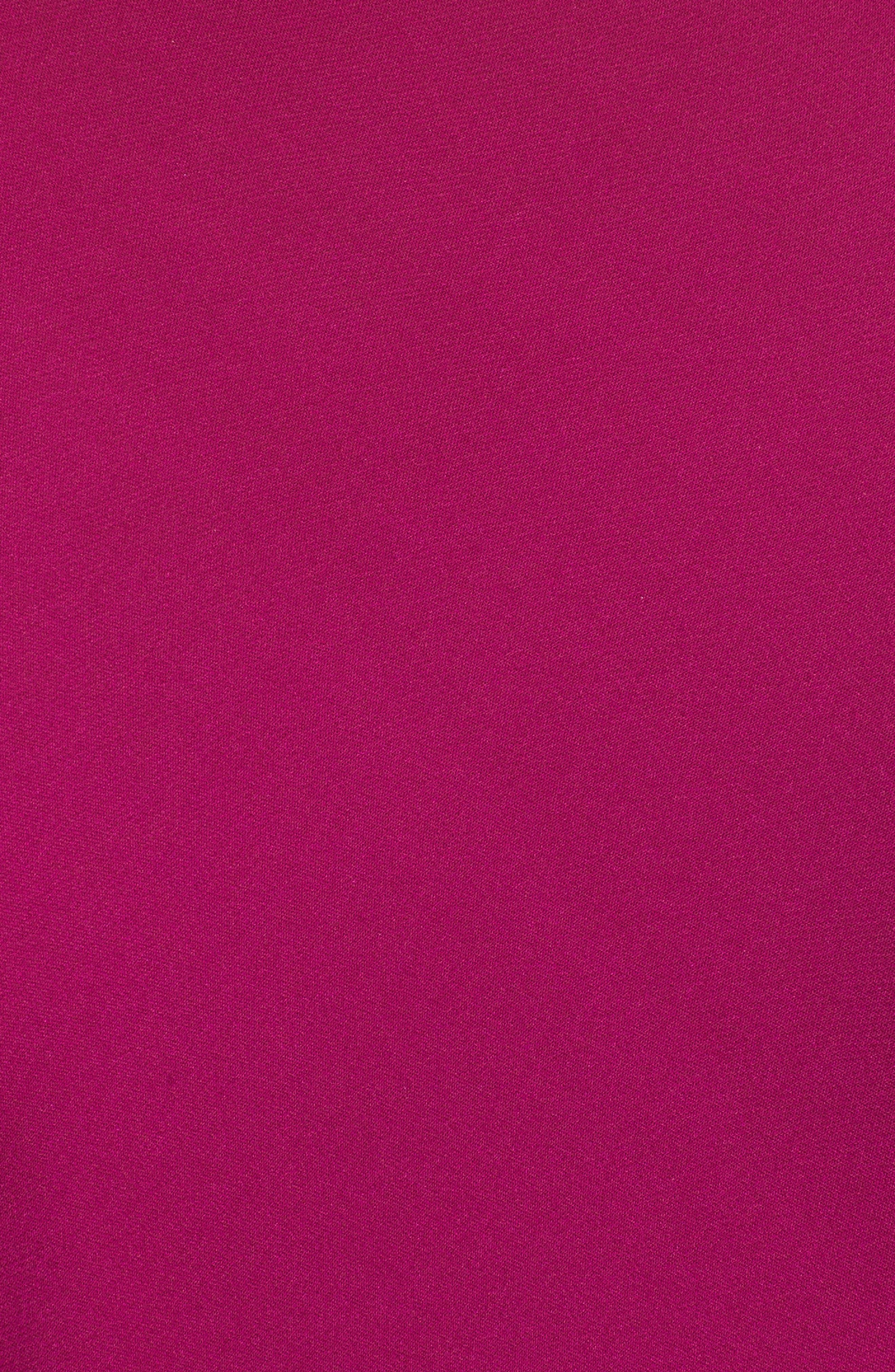 Turtleneck Bias Silk Top,                             Alternate thumbnail 5, color,                             Electric Pink