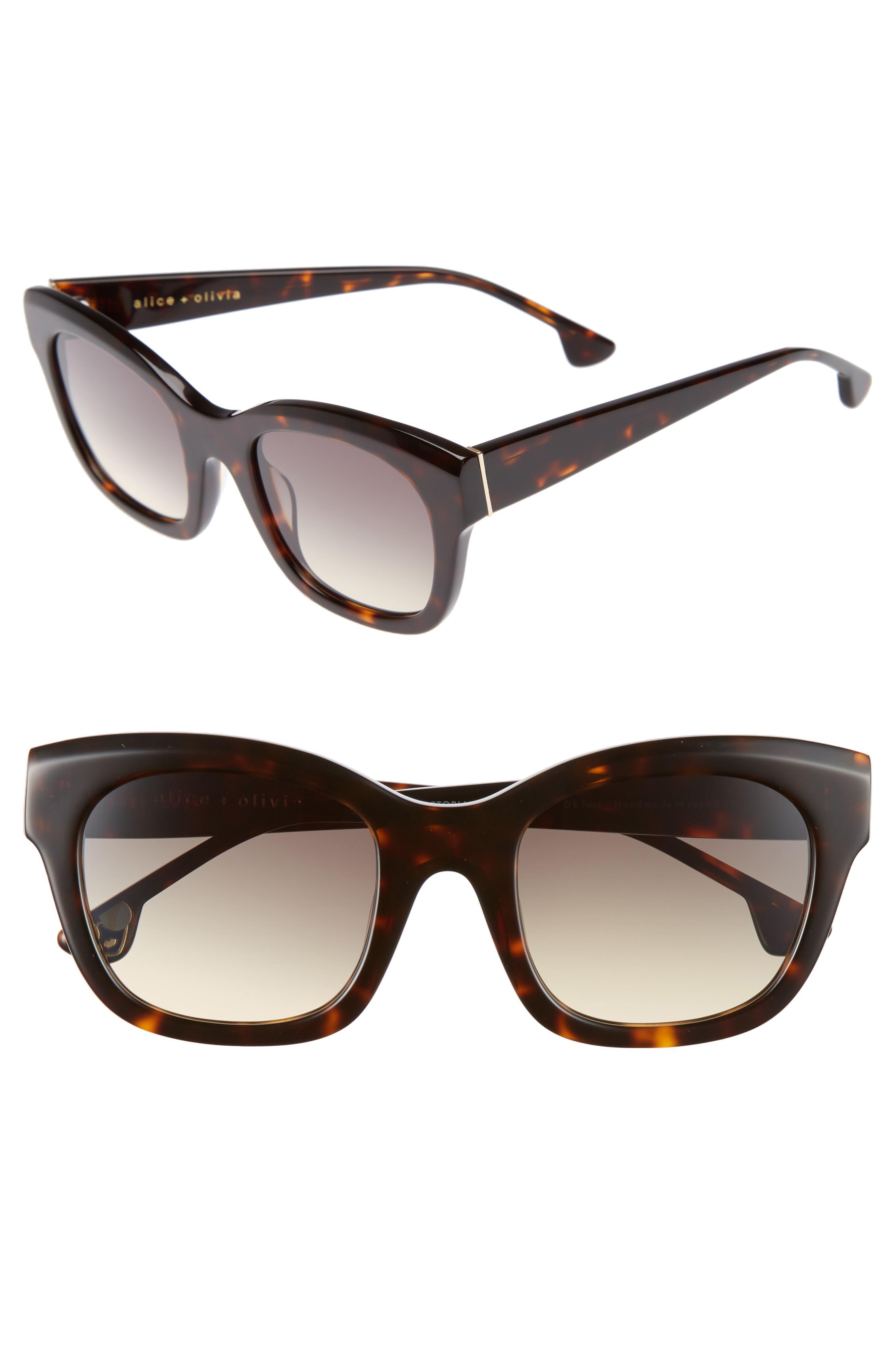 Alice + Olivia Victoria 50mm Cat Eye Sunglasses
