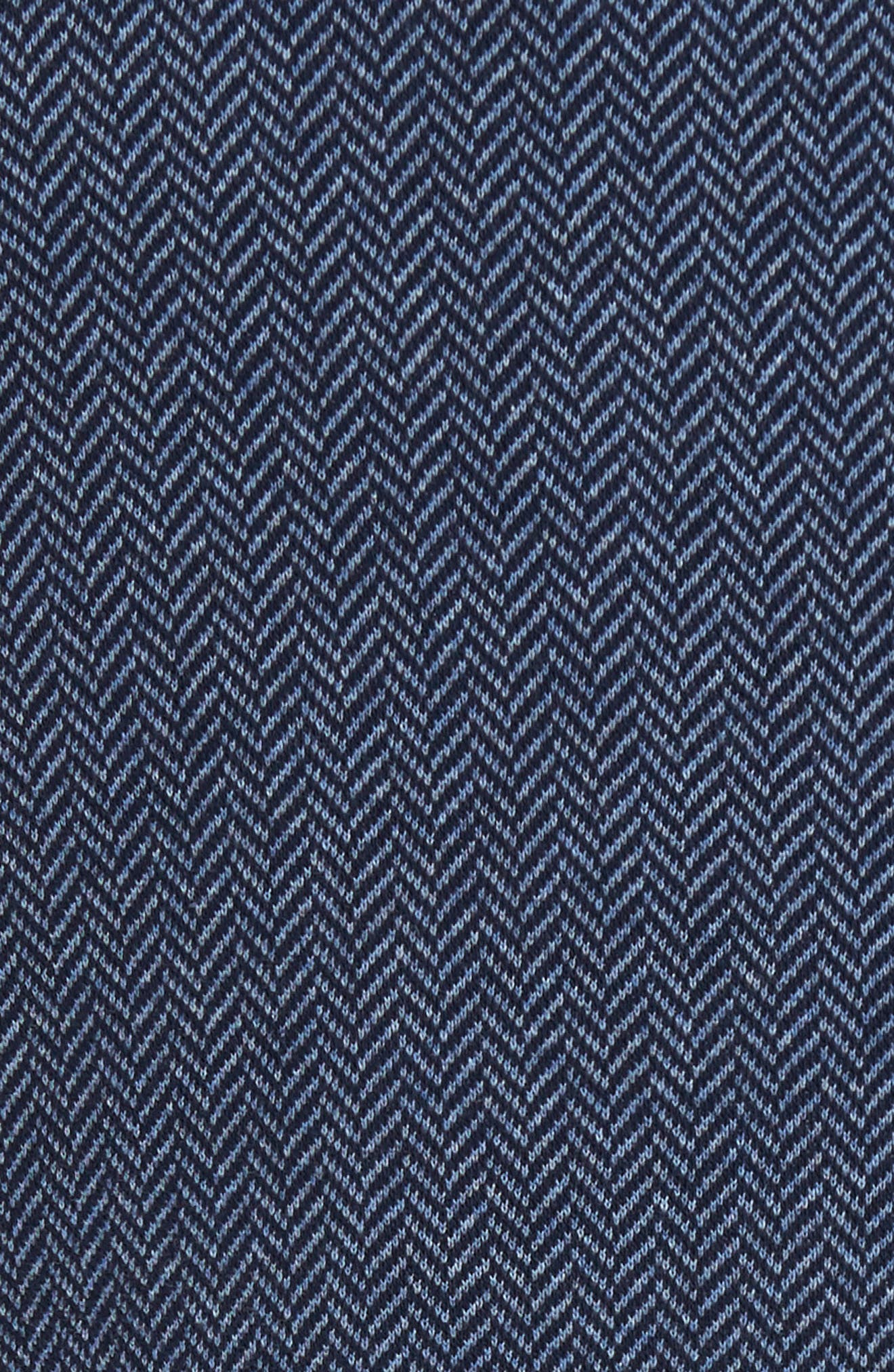 Draper Herringbone Sport Coat,                             Alternate thumbnail 5, color,                             Navy