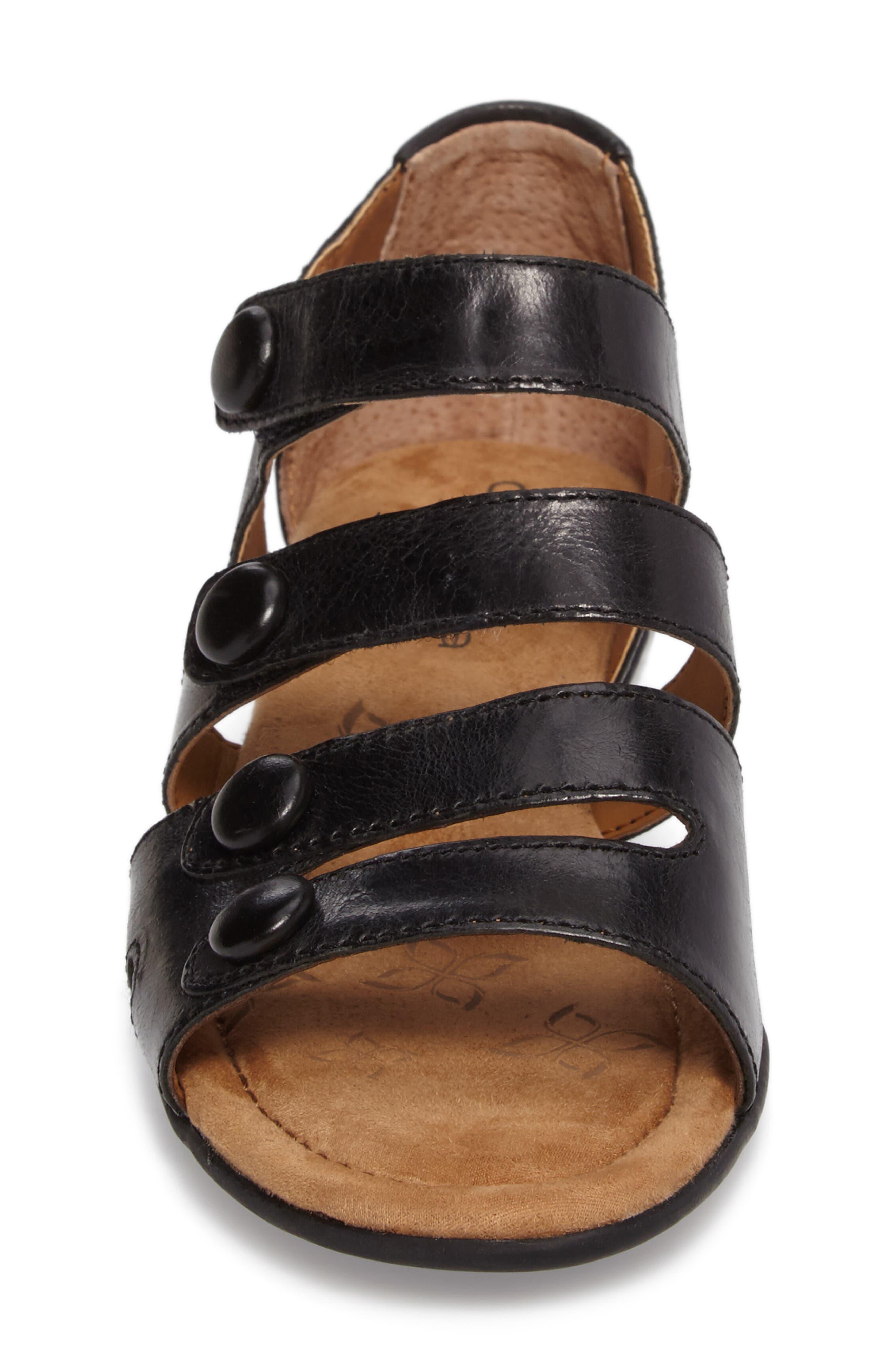 Reading Sandal,                             Alternate thumbnail 5, color,                             Black Leather