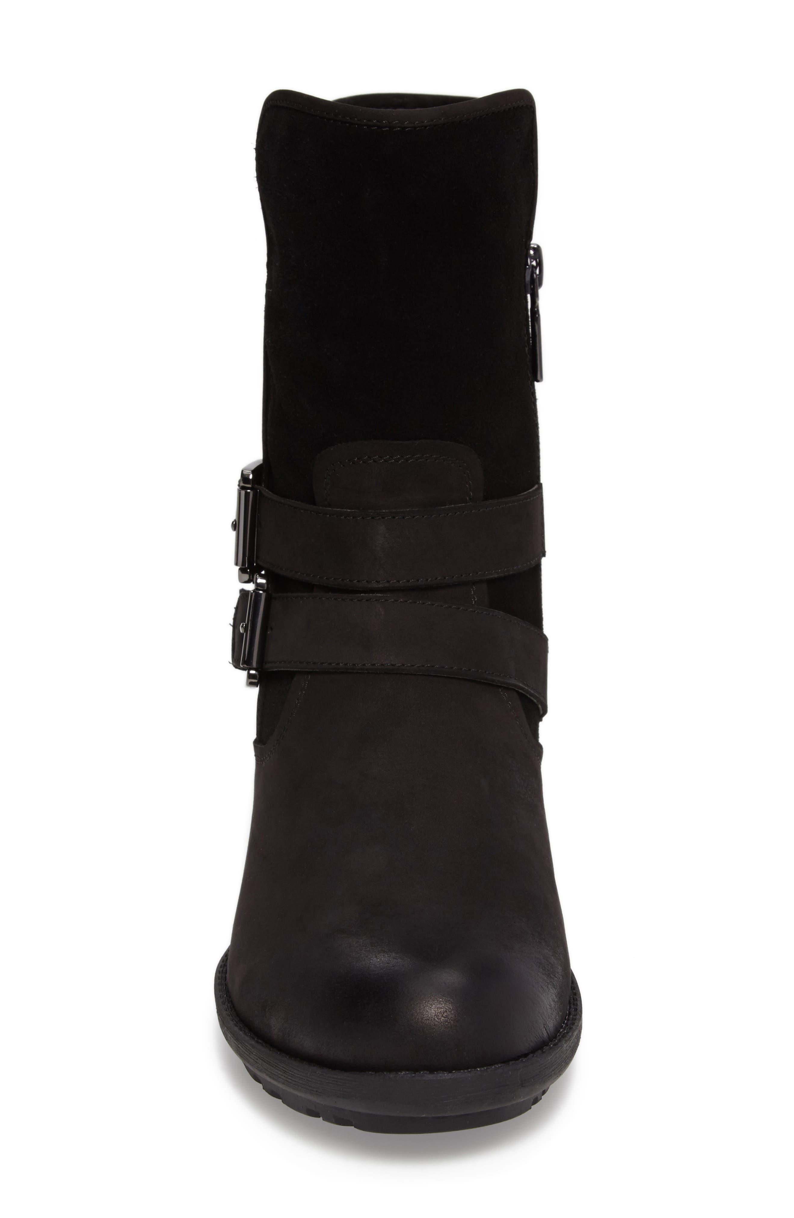 Tula Waterproof Boot,                             Alternate thumbnail 4, color,                             Black Nubuck Leather