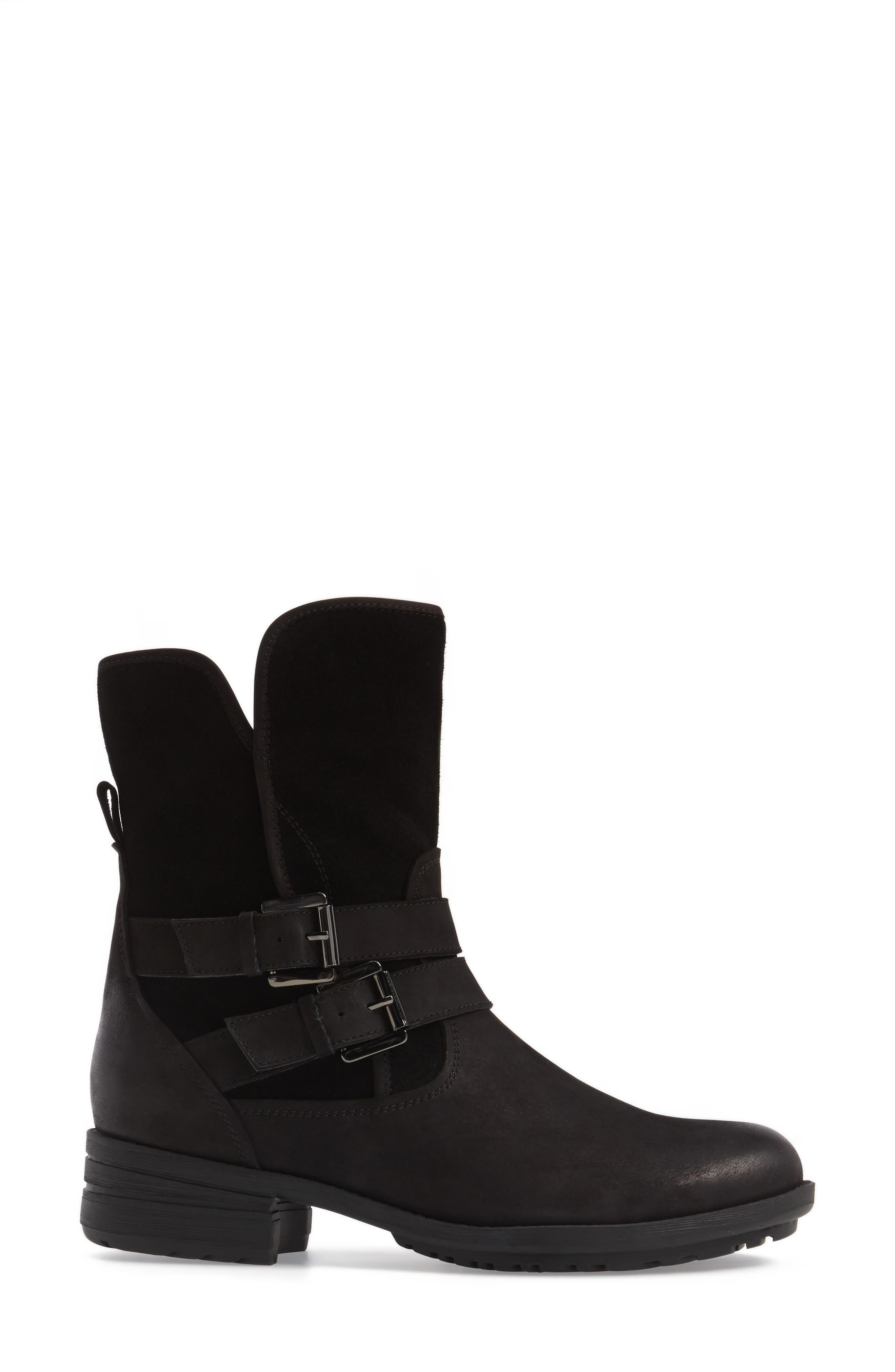 Tula Waterproof Boot,                             Alternate thumbnail 3, color,                             Black Nubuck Leather