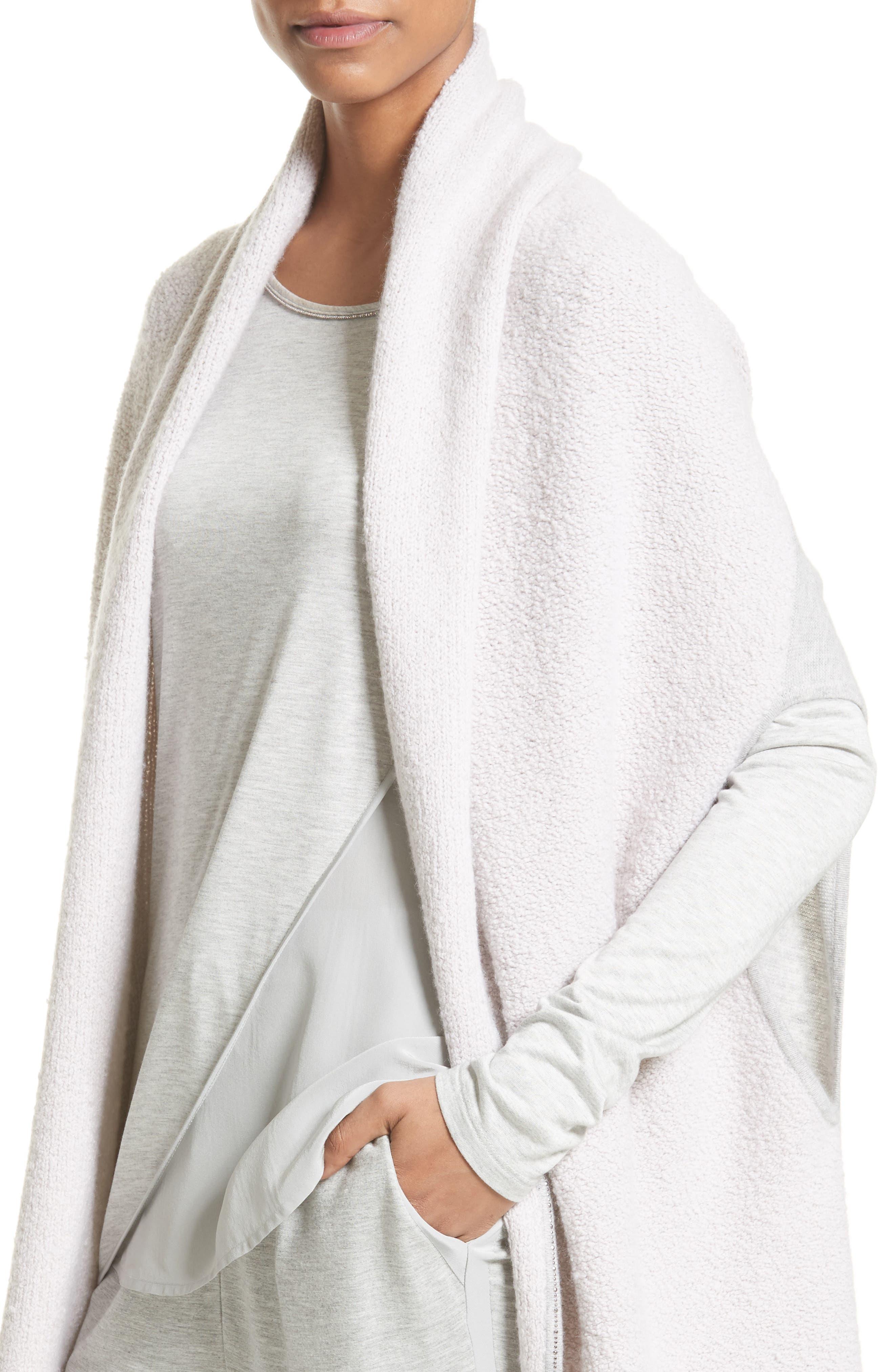 Alternate Image 4  - St. John Collection Cashmere Jersey Cardigan