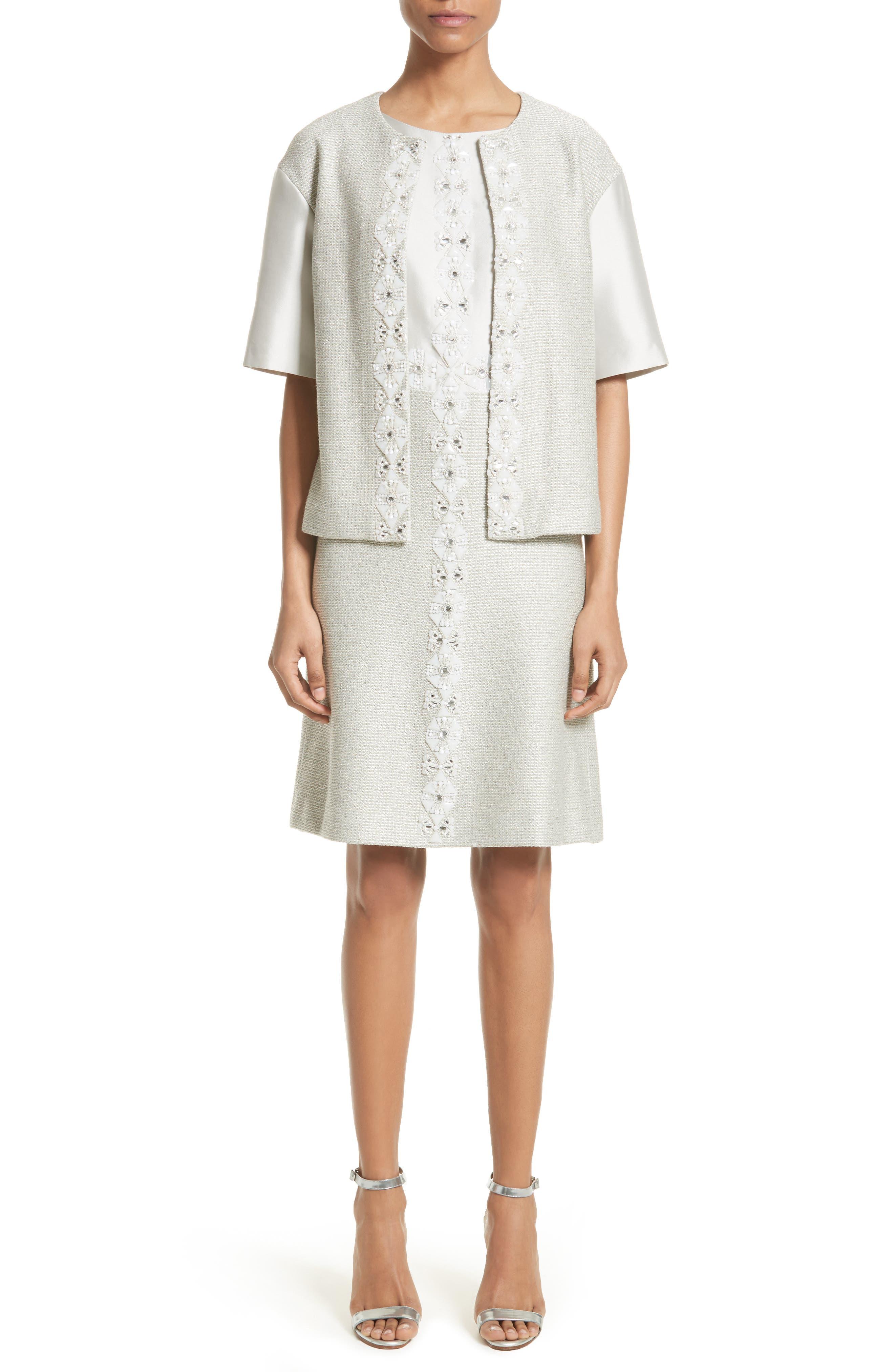 Alternate Image 8  - St. John Collection Beaded Jasmine Sparkle Knit Jacket