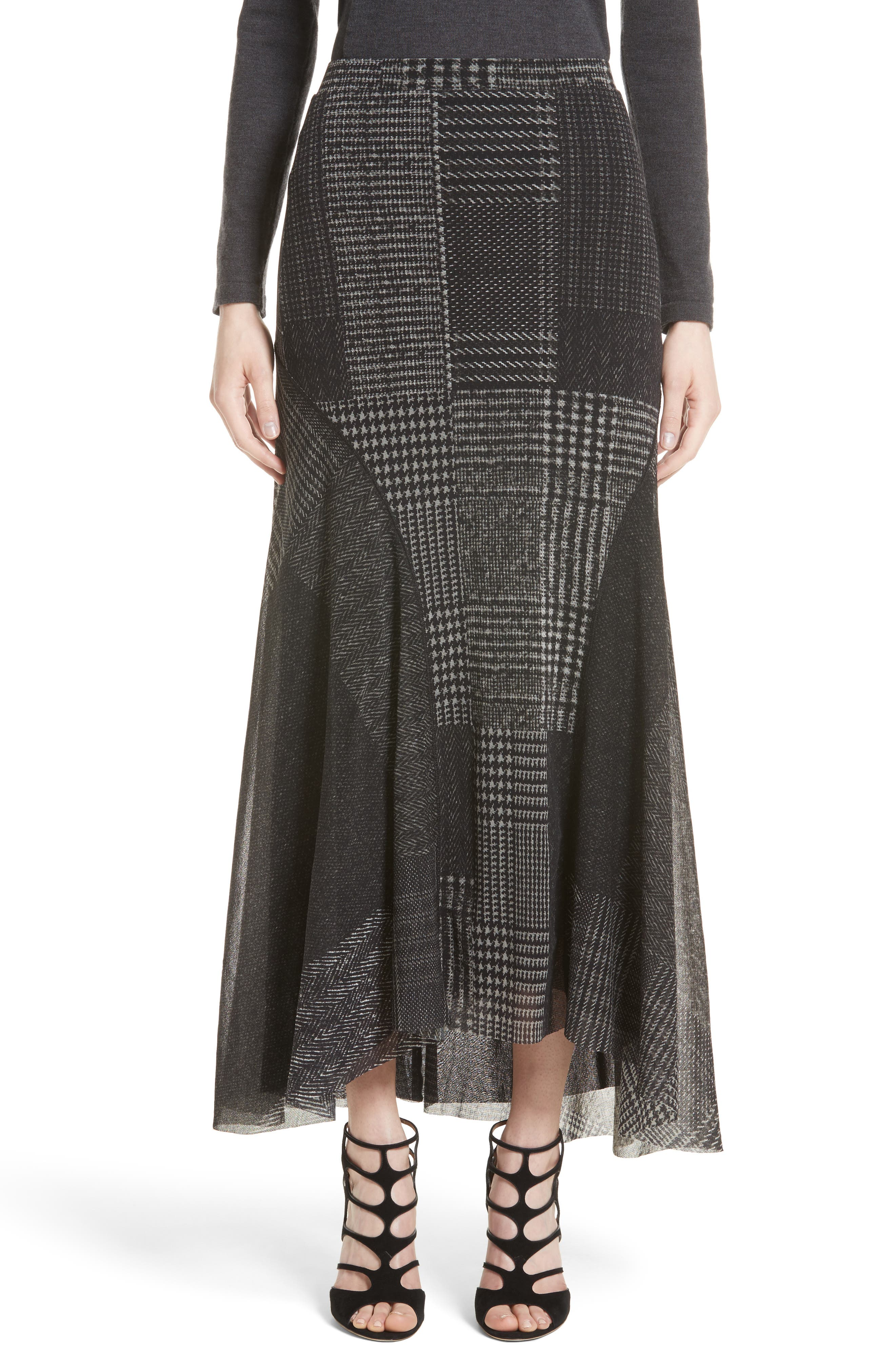 Tulle Maxi Skirt,                         Main,                         color, Nero