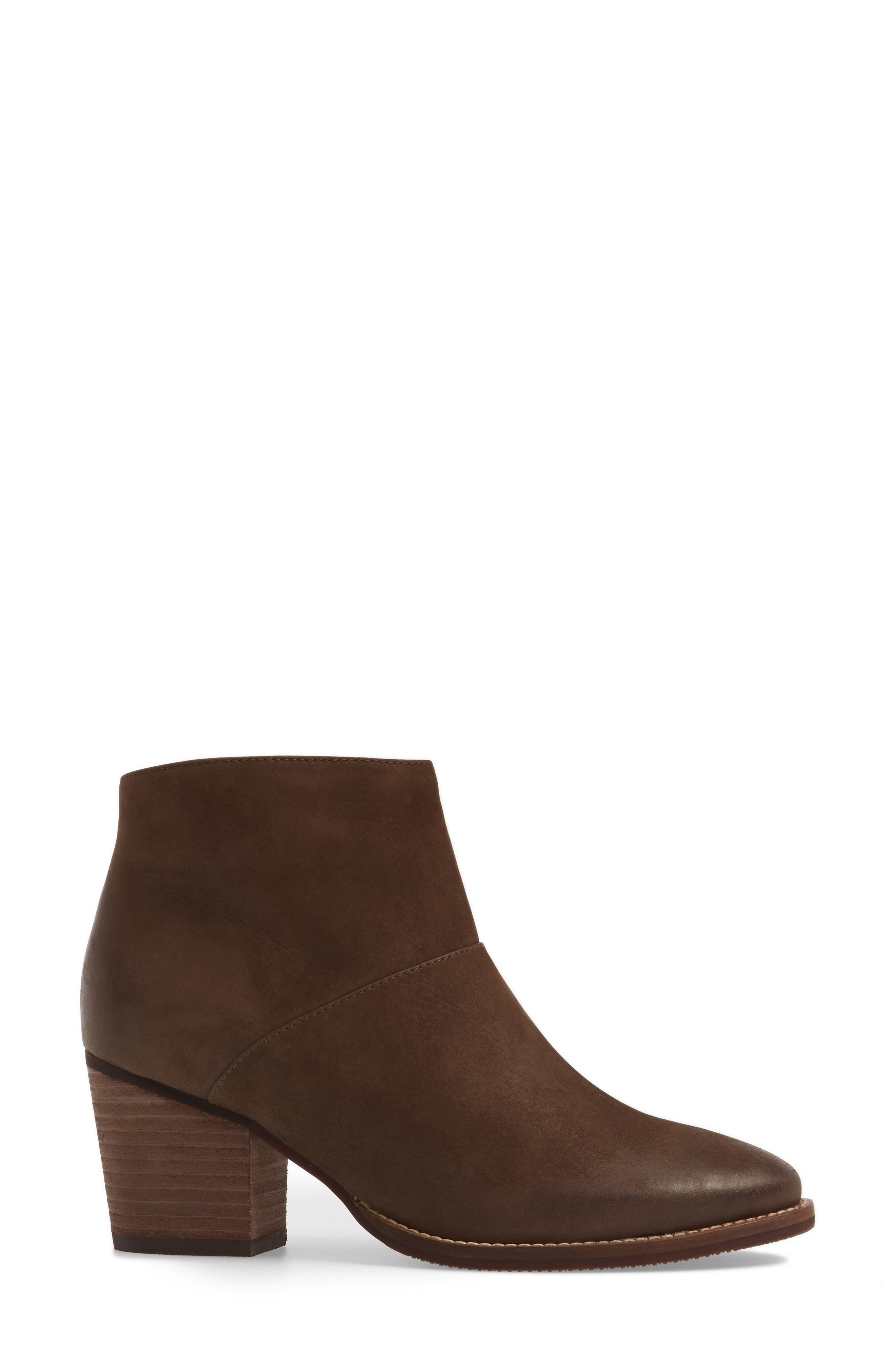 Nelli Waterproof Bootie,                             Alternate thumbnail 3, color,                             Taupe Nubuck Leather