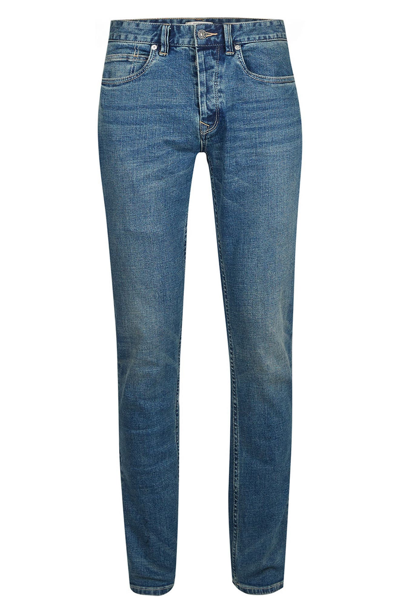 Stretch Slim Fit Jeans,                             Alternate thumbnail 6, color,                             Blue