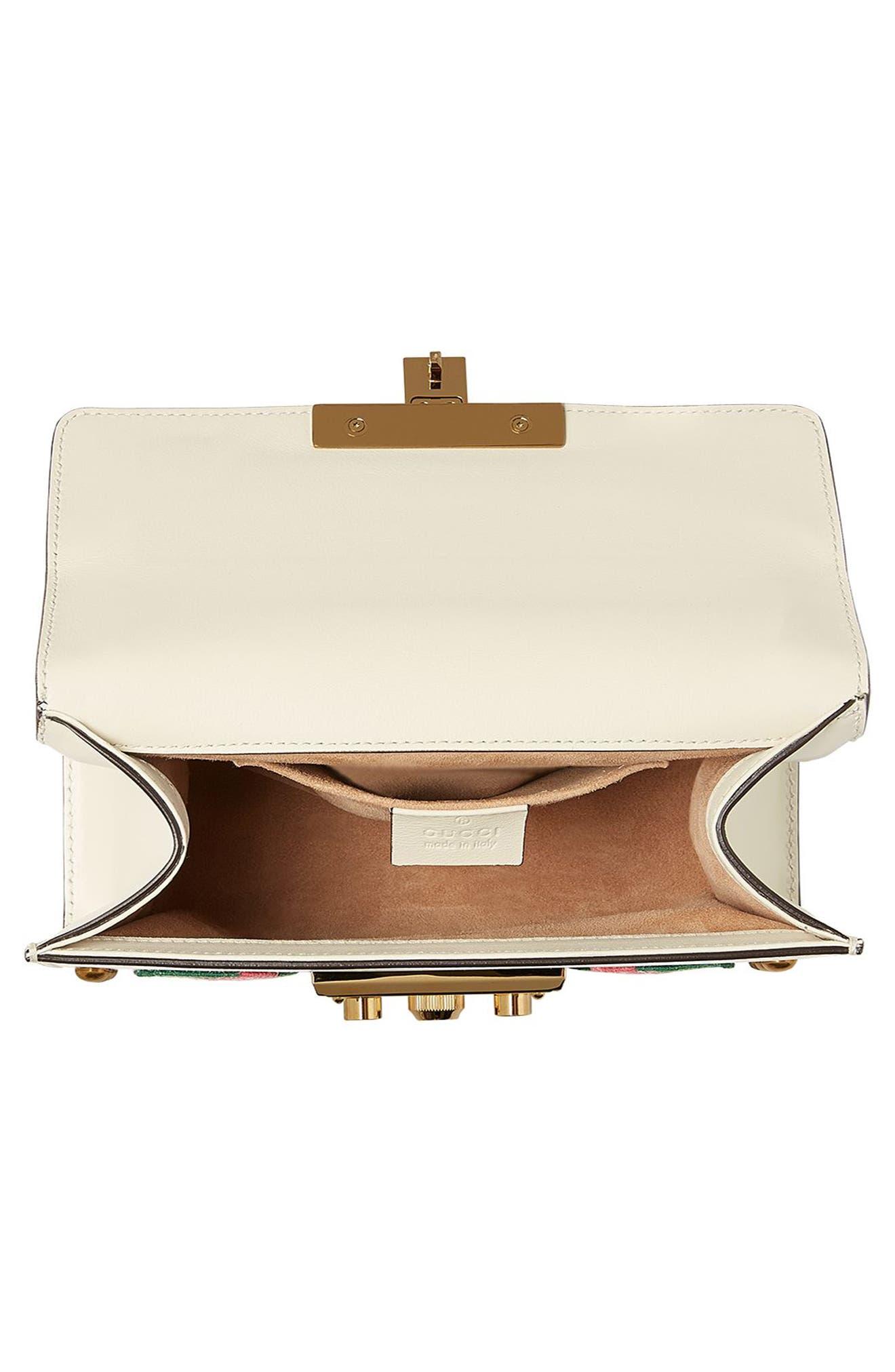 Alternate Image 3  - Gucci Small Padlock Embroidered Leather Shoulder Bag