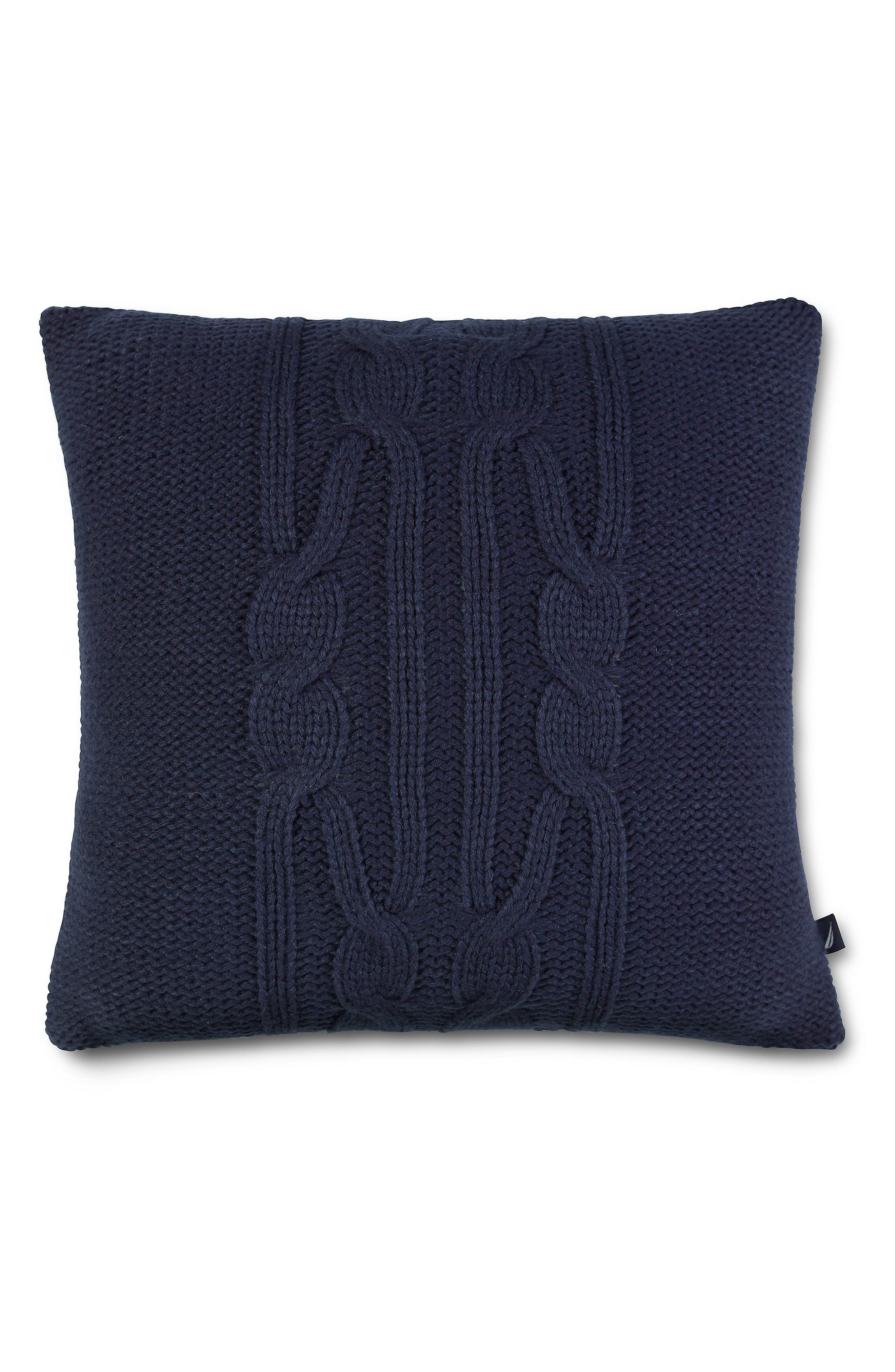 Bartlett Knit Pillow,                             Main thumbnail 1, color,                             Navy