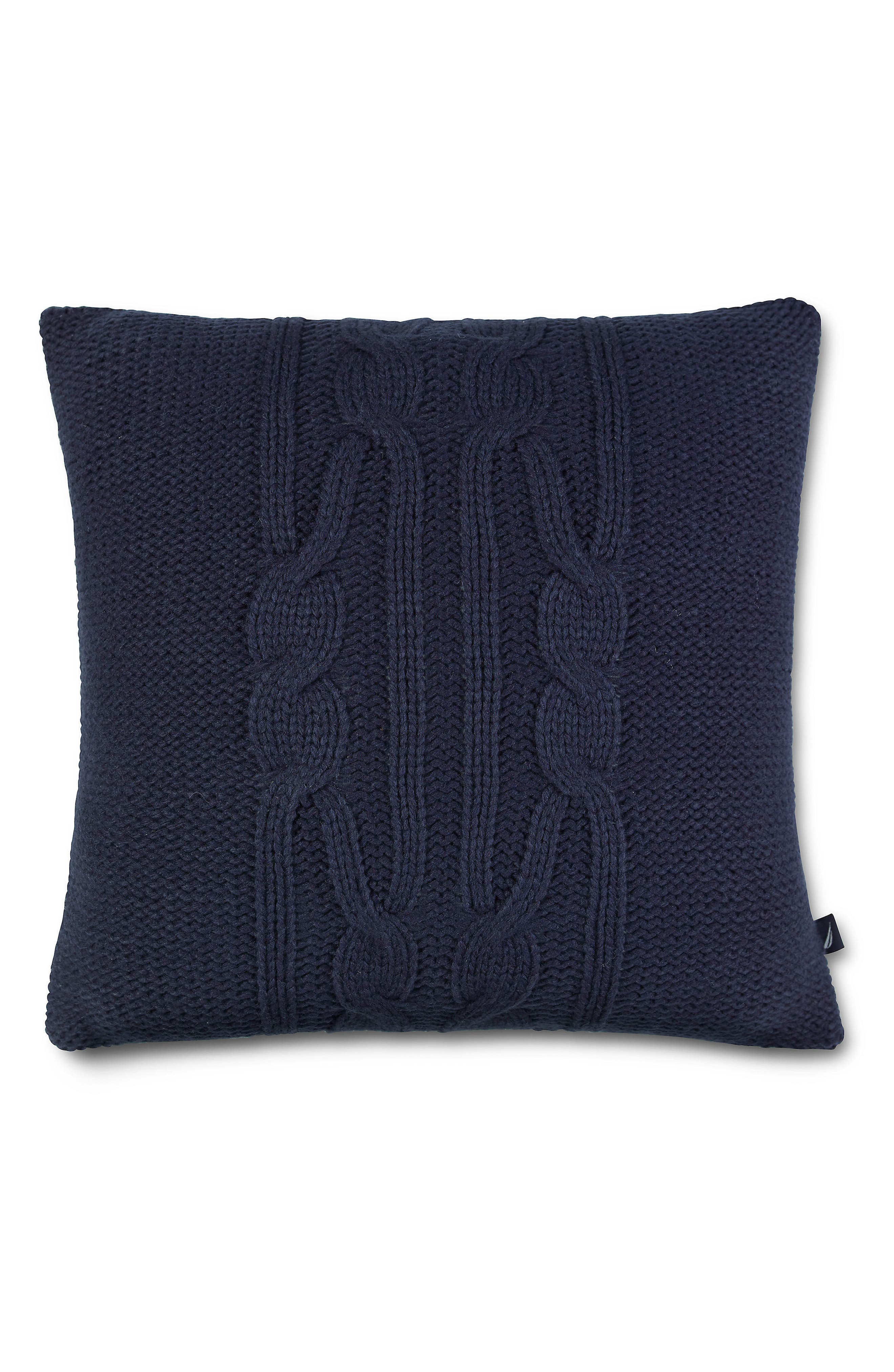 Bartlett Knit Pillow,                         Main,                         color, Navy