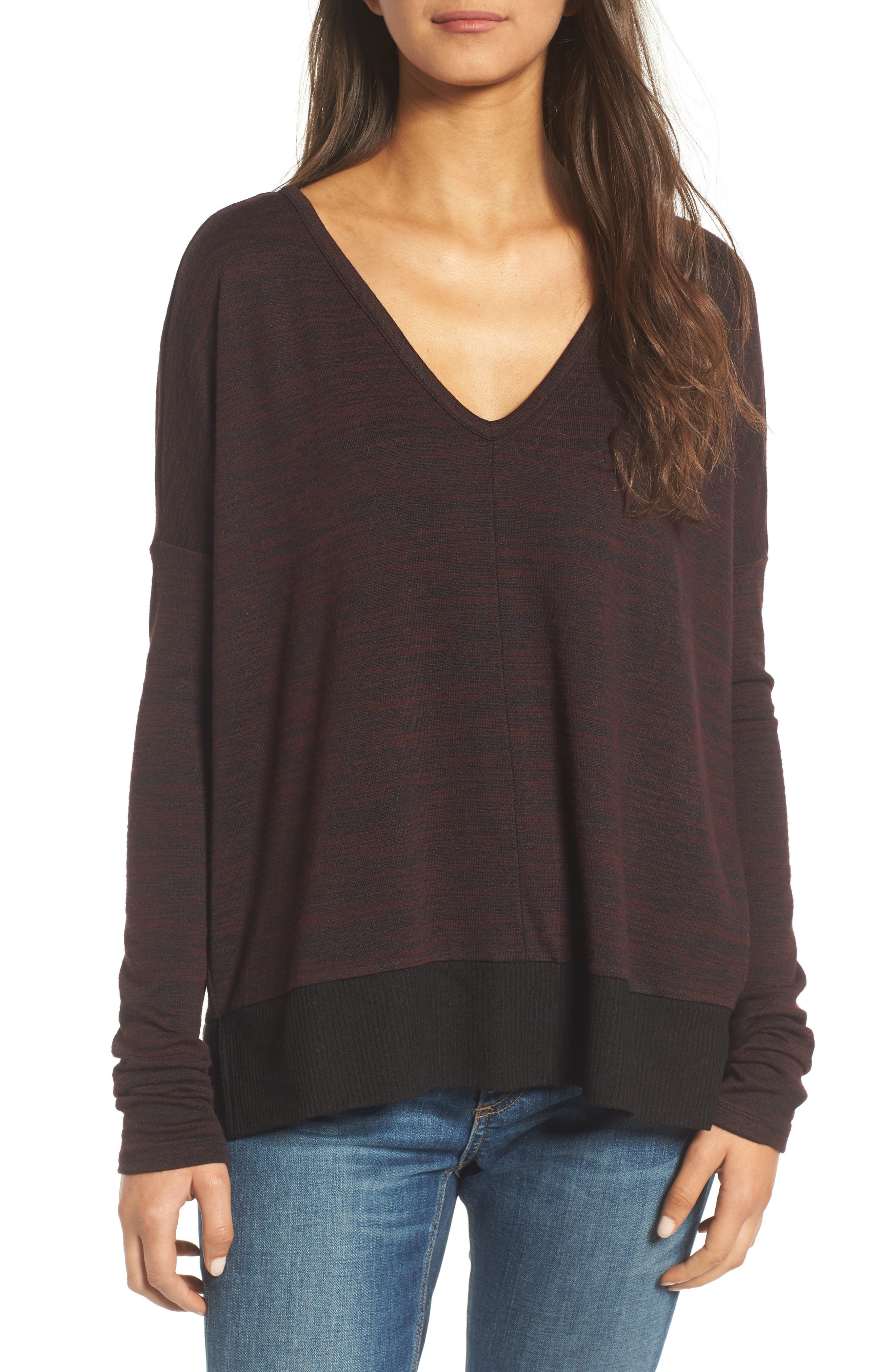 RAG & BONE/JEAN Double Vee Long Sleeve Tee