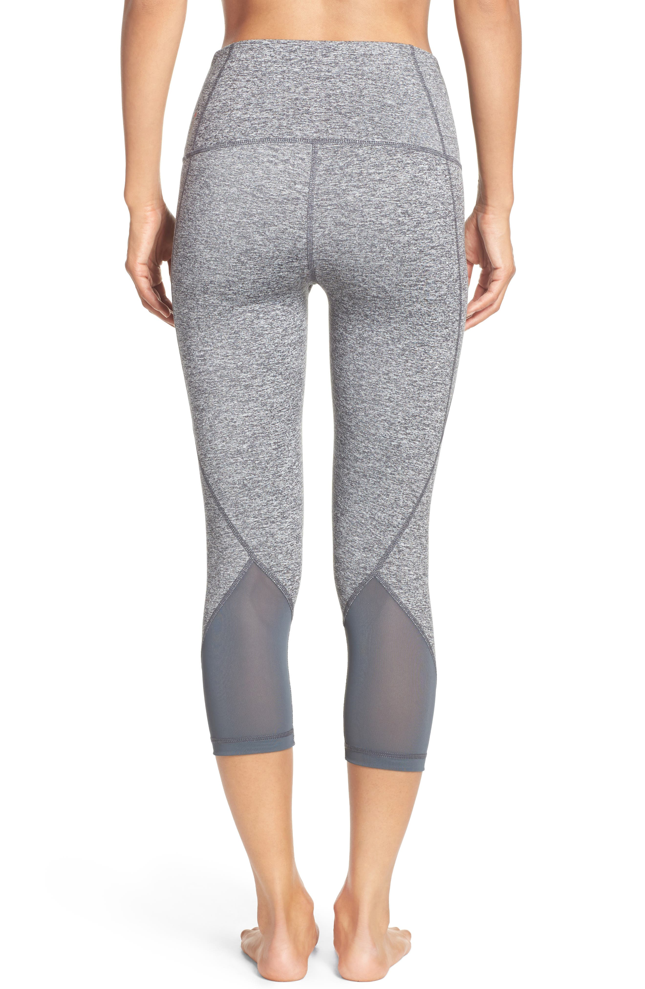 Alternate Image 2  - Zella 'Hatha' High Waist Crop Leggings