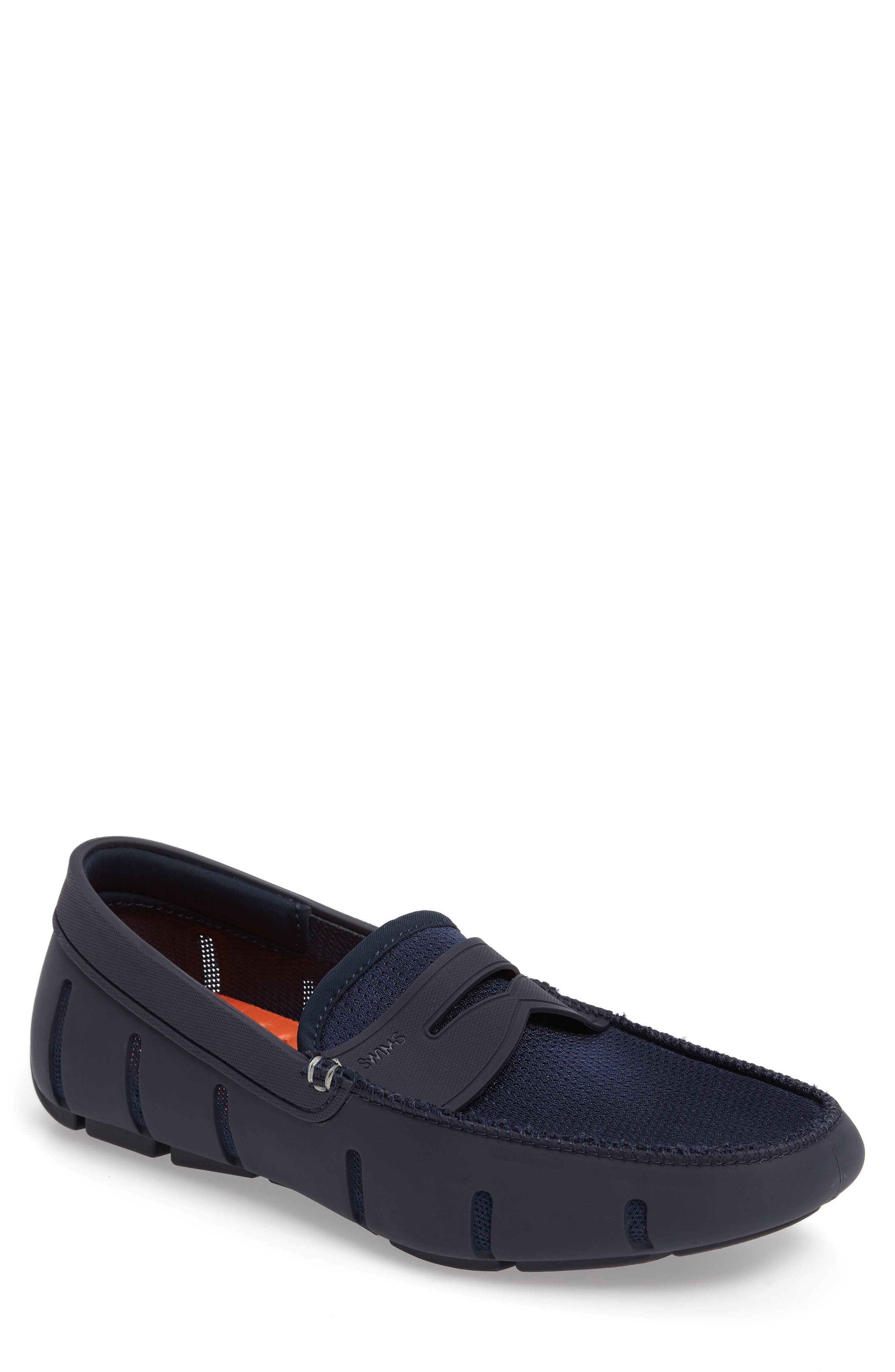 Mens Casual Shoes Latest Collections 41607765 Swims Mesh And Rubber Penny Loafers Light Blue Orange