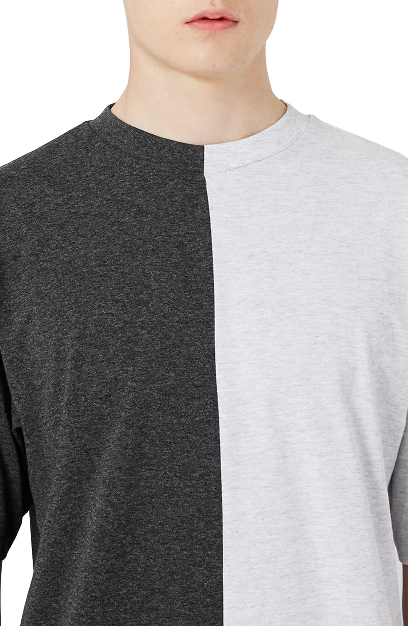 Alternate Image 4  - Topman Splice T-Shirt