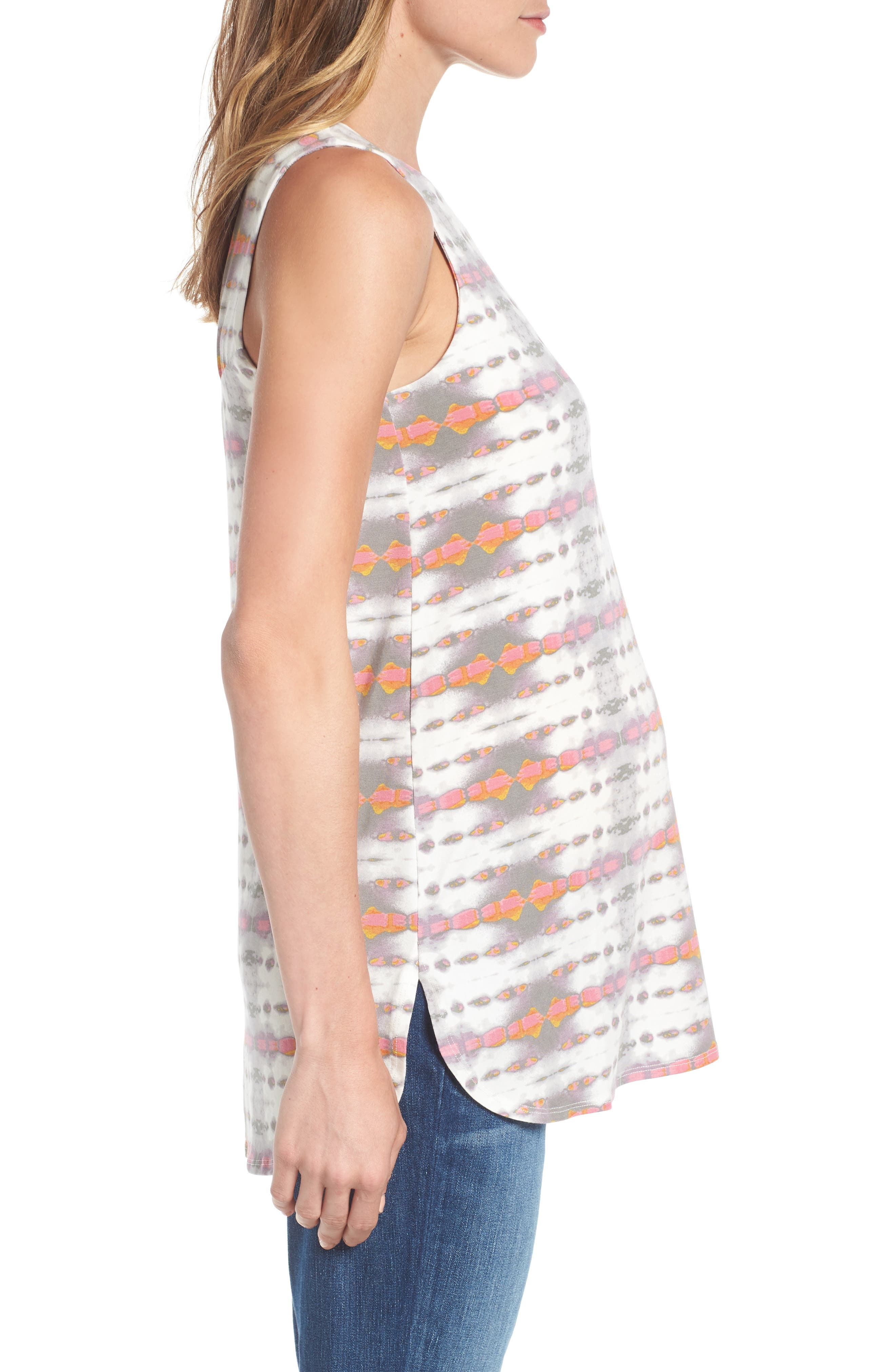 Ursa Maternity Top,                             Alternate thumbnail 3, color,                             Dyed Arrow Stripe