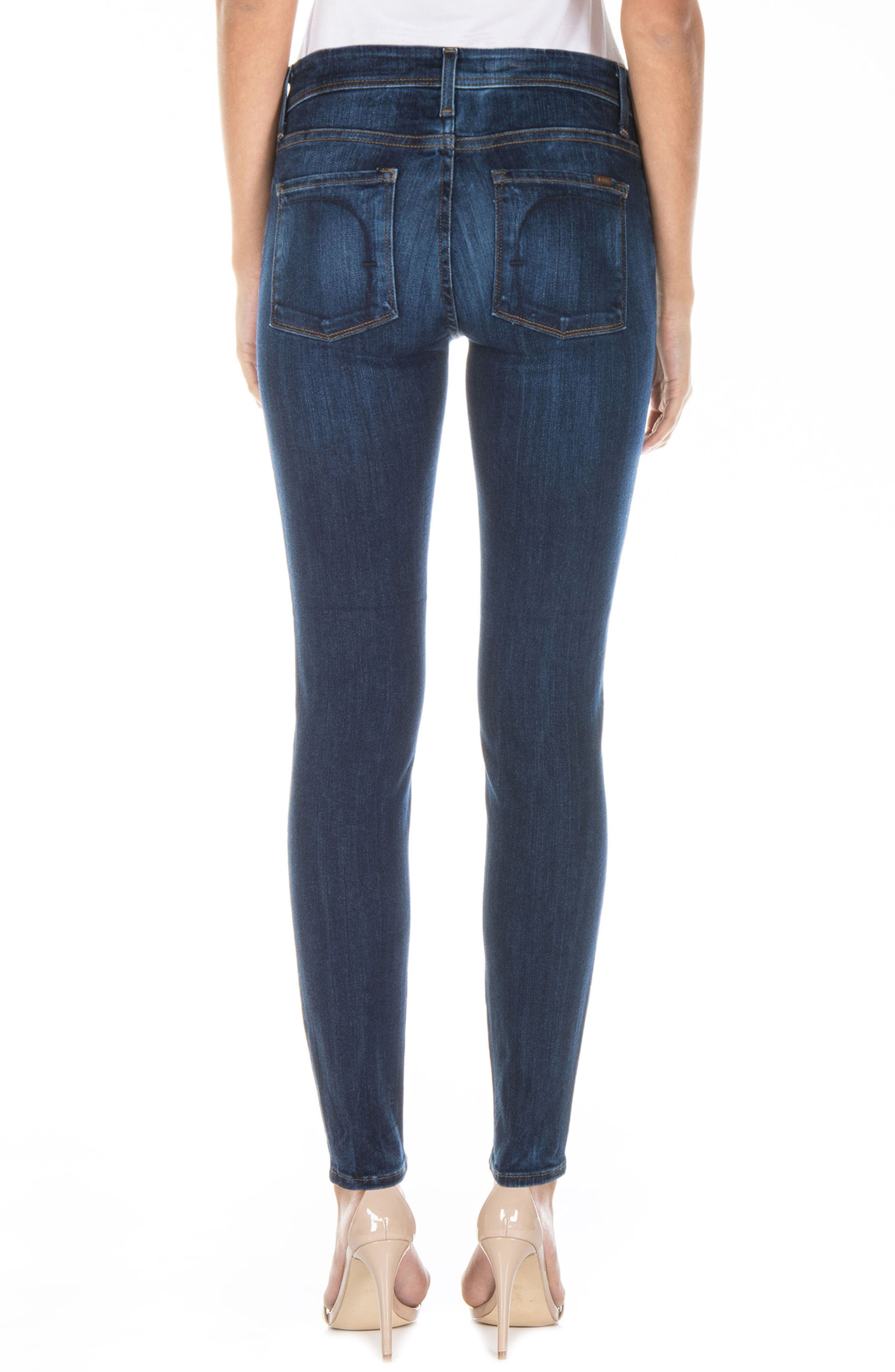 Gwen High Waist Skinny Jeans,                             Alternate thumbnail 2, color,                             Falcon Blue